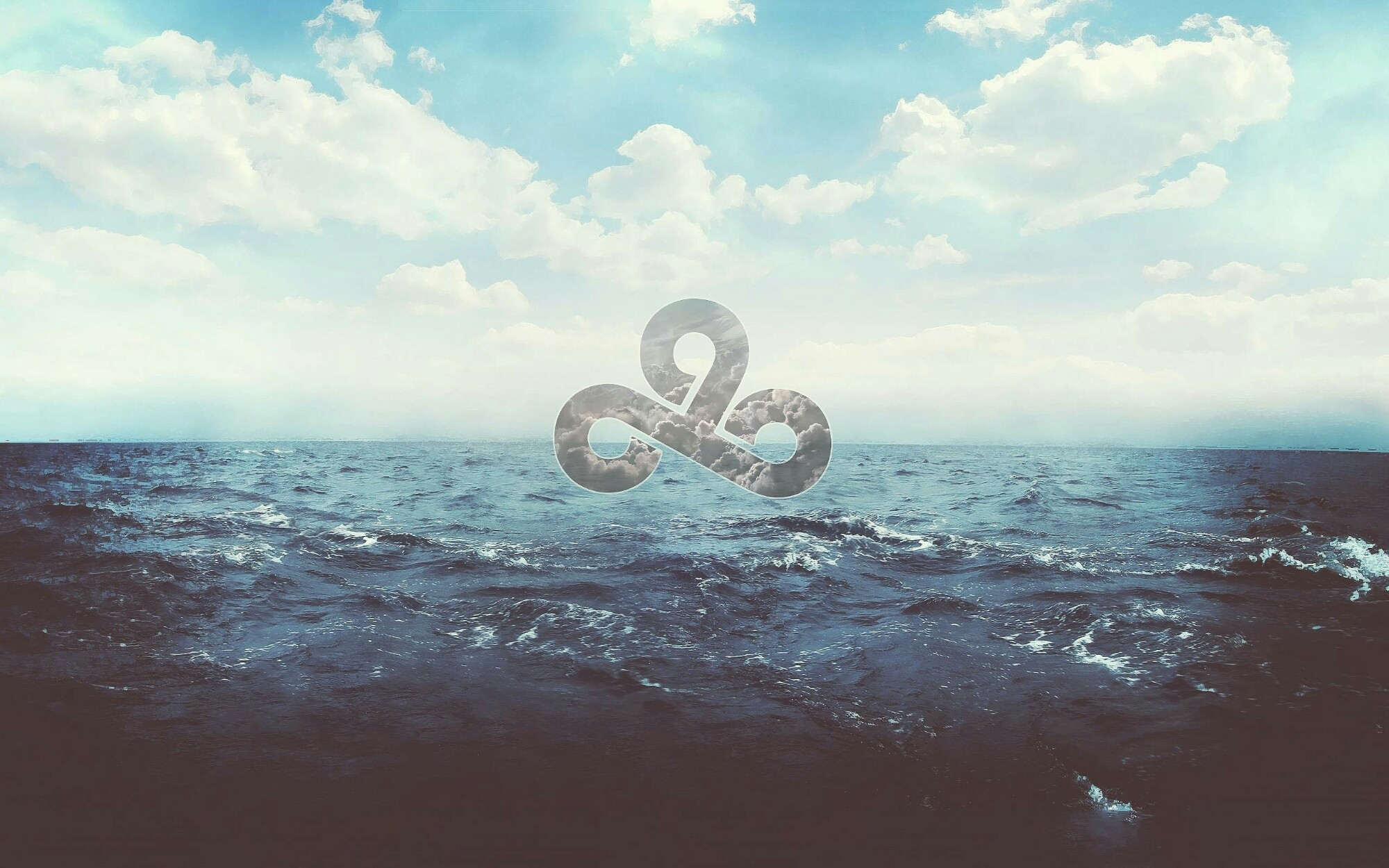 Cloud Nine Blue Sea Ocean Water And Sky Abstract Cover Photo Wallpaper .