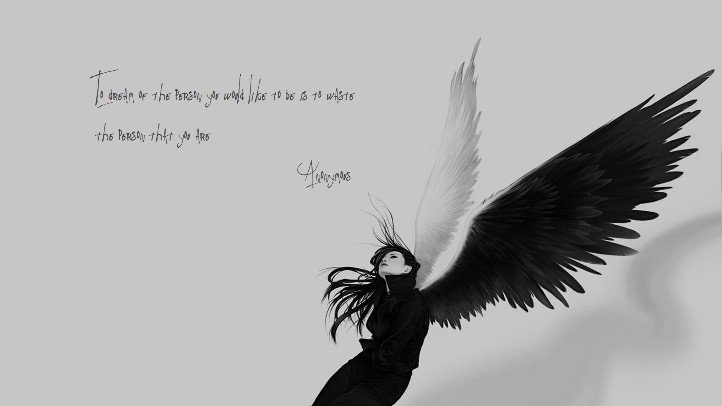 wallpaper.wiki-Anonymous-angels-monochrome-quotes-sad-2400×1350-