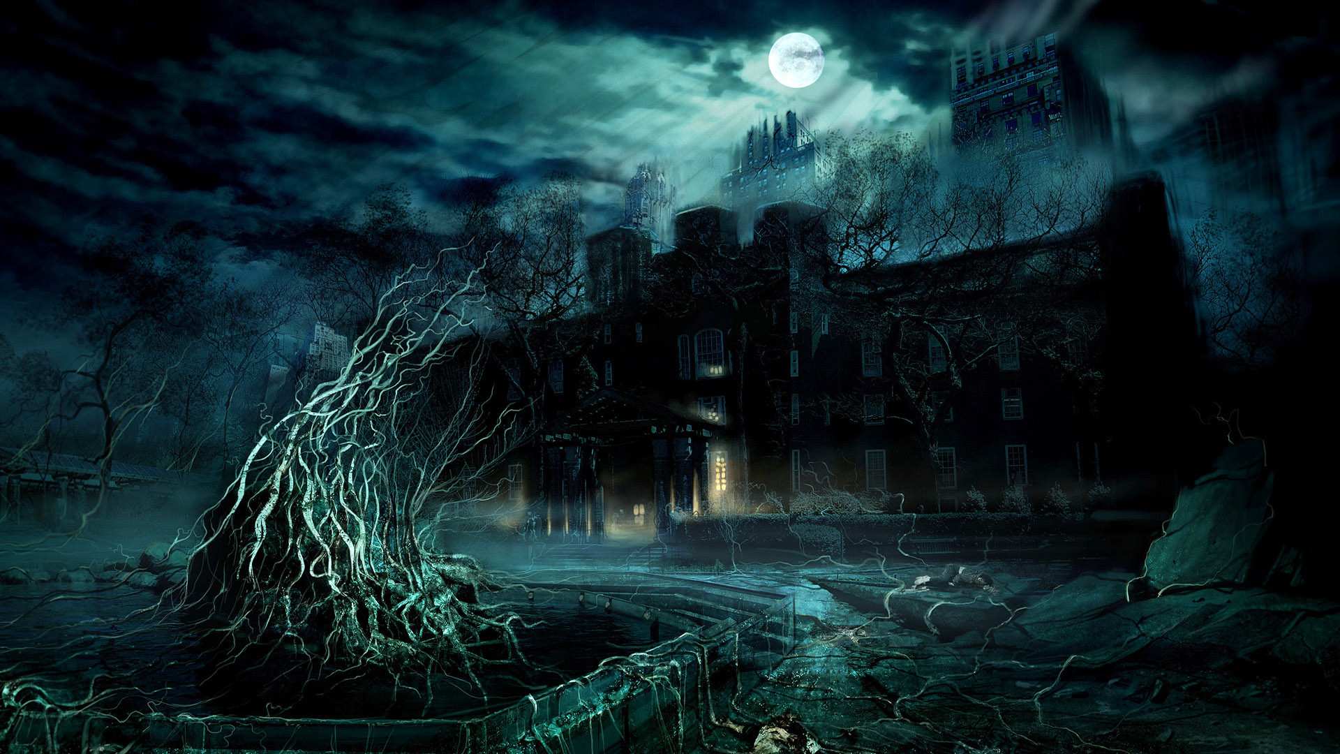 Dark Night Fantasy Places HD Wallpaper – https://www.cartoonography.com