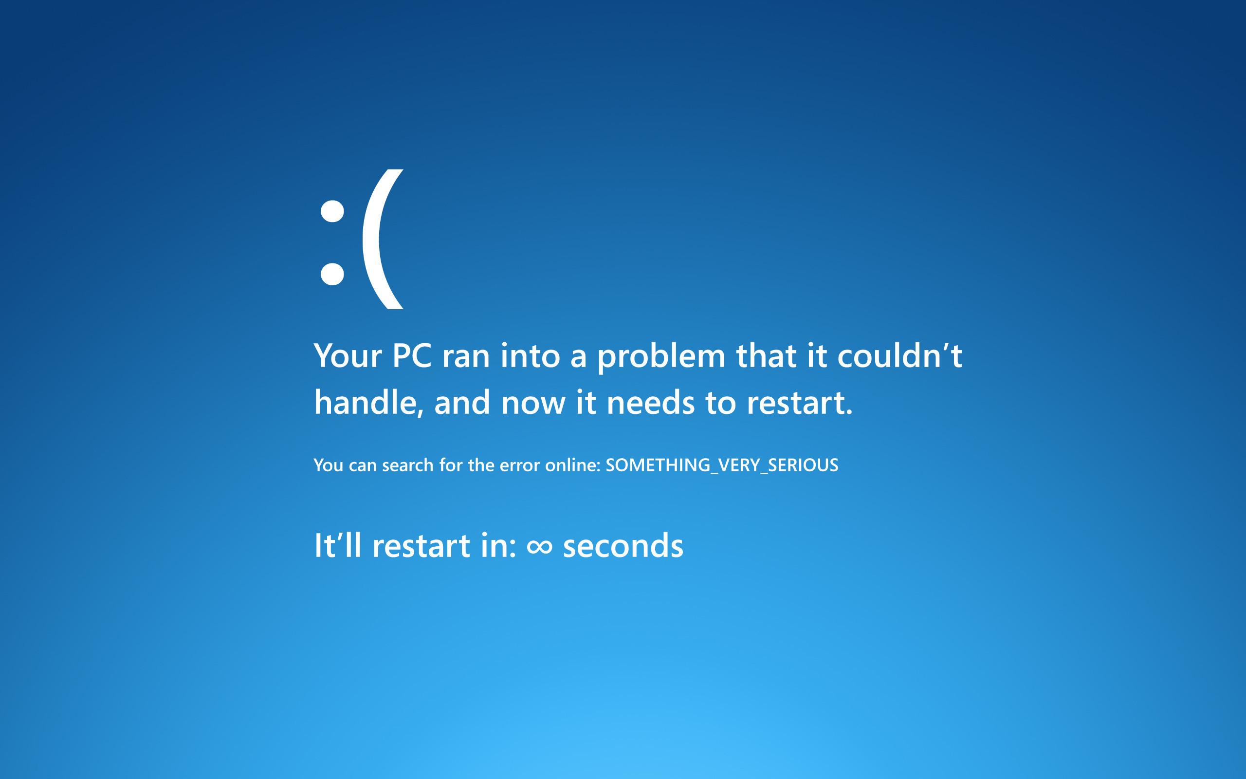 The Windows Blue Screen of Death Makes a Hilarious iPad Lock Screen