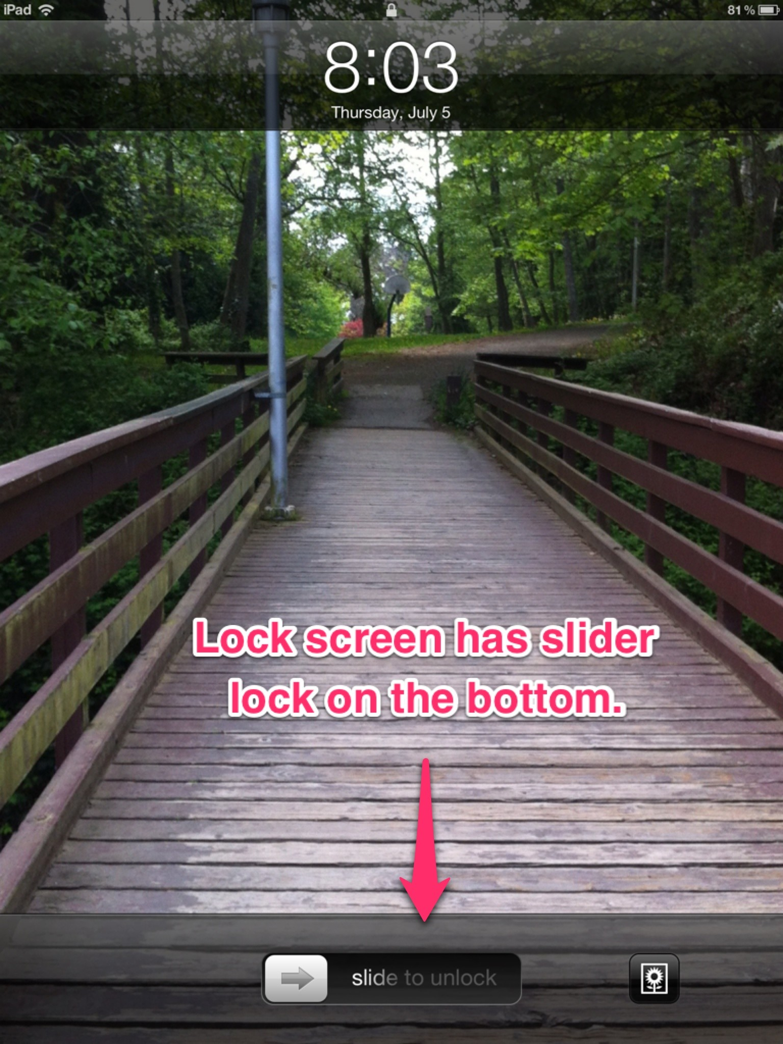 """The """"lock screen"""" …"""
