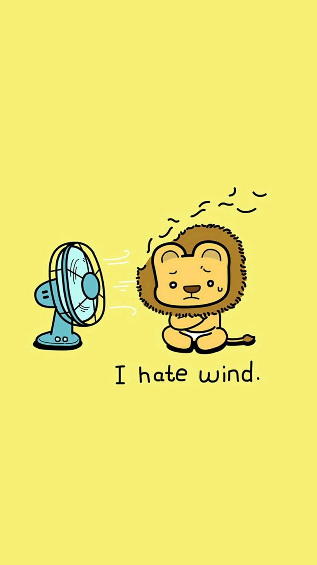 O hate wind, wallpaper, lockscreen