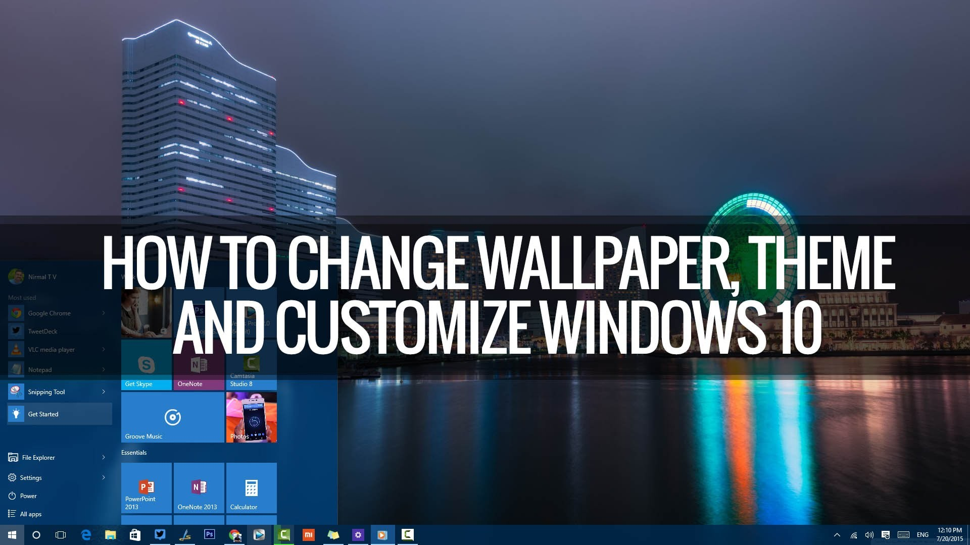 How to Change Wallpapers, Themes, Lockscreen and Start in Windows 10 |  Techniqued – YouTube