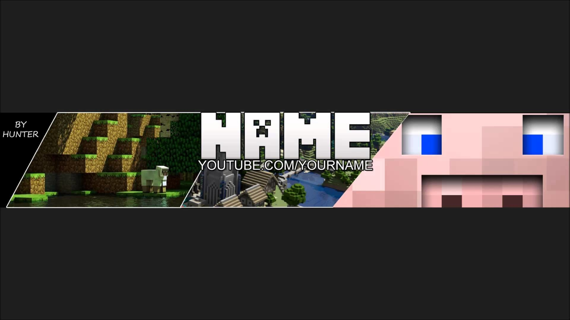 Free One-Channel Minecraft Background Template | 2013 Layout | by me .