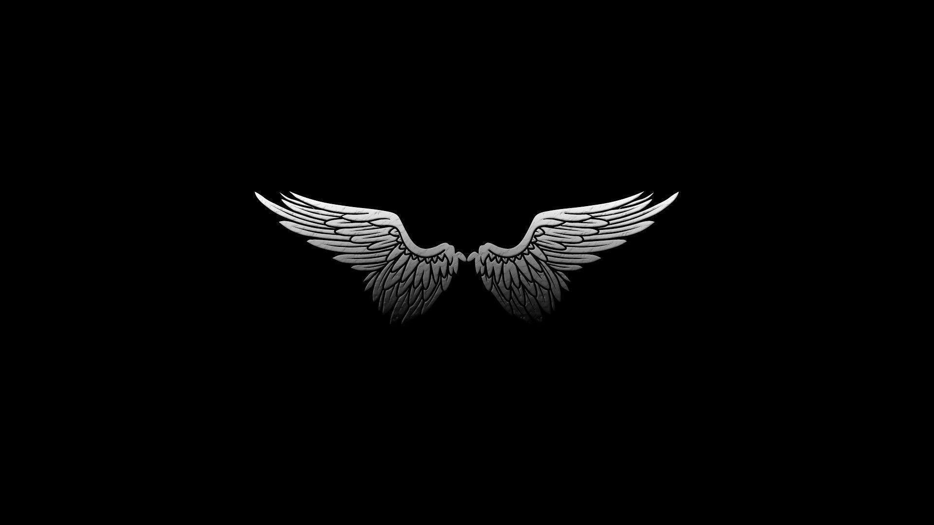 Wallpapers For > White Angel Wings Wallpaper
