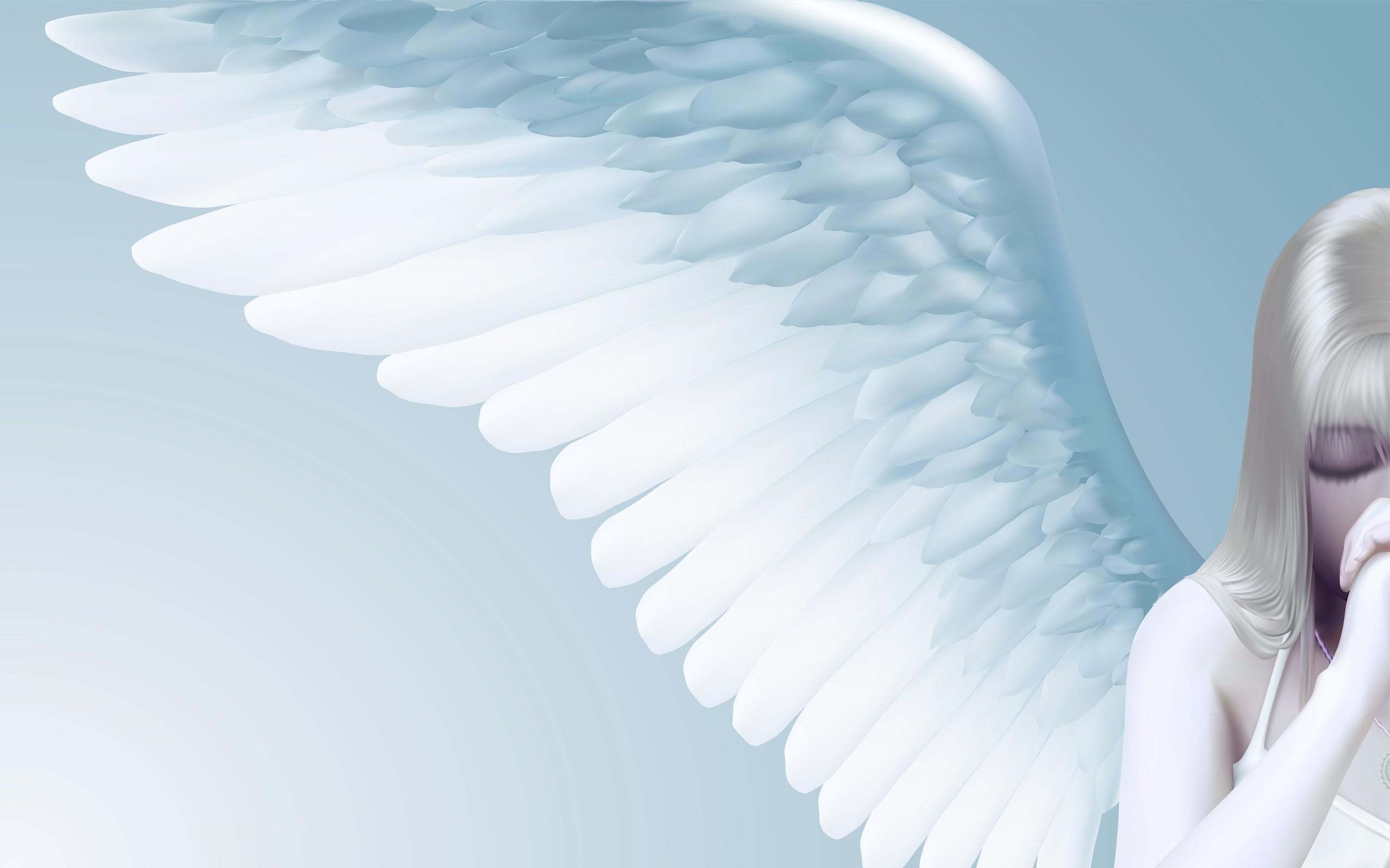 angel girl wings light