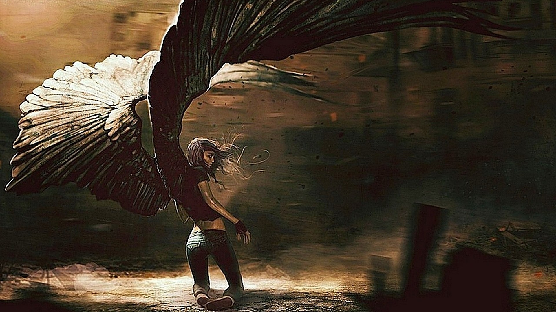 Free angel wings wallpaper background