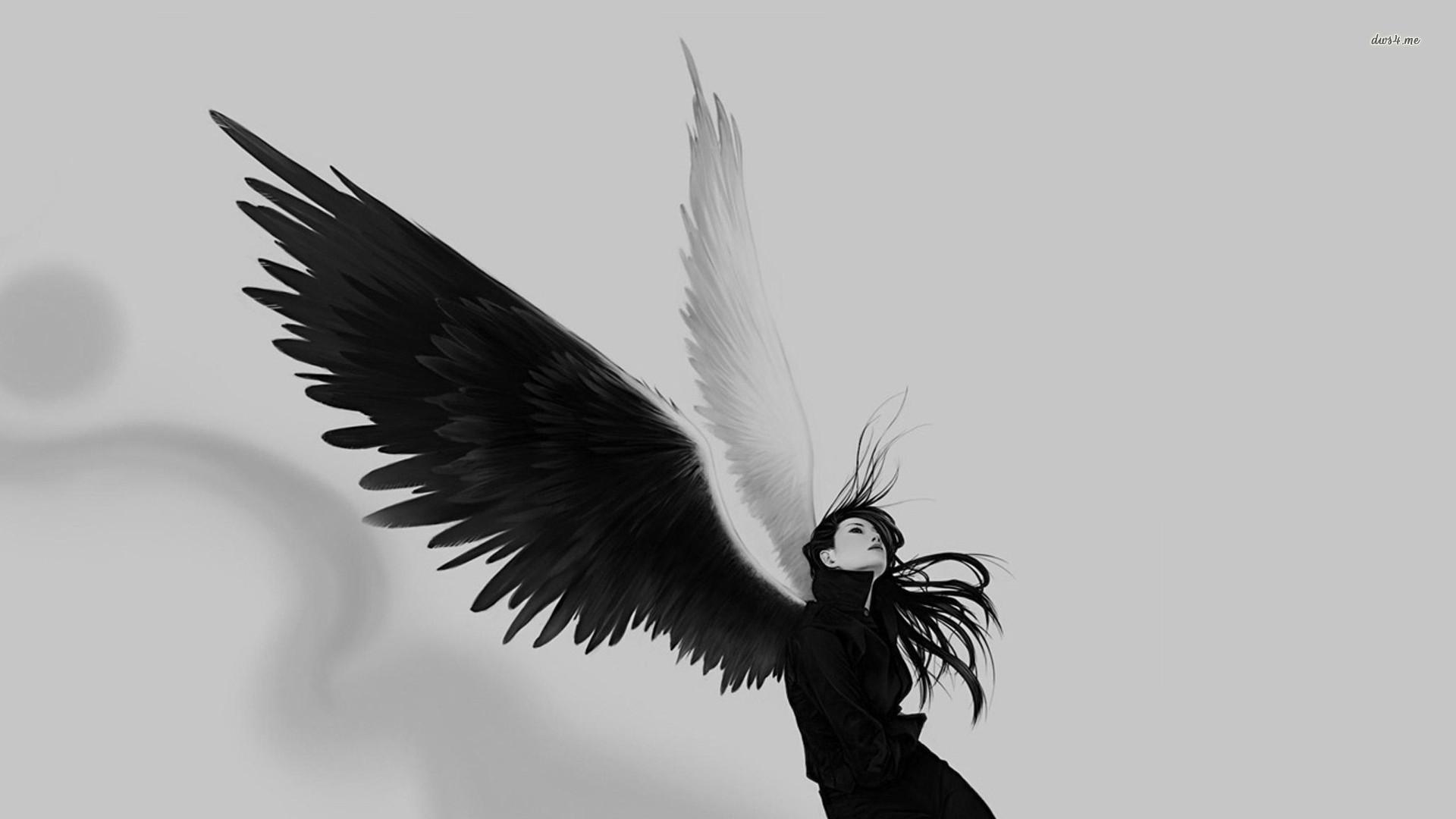 Black angel Artistic HD desktop wallpaper, Wing wallpaper, Woman wallpaper, Angel  wallpaper – Artistic no.
