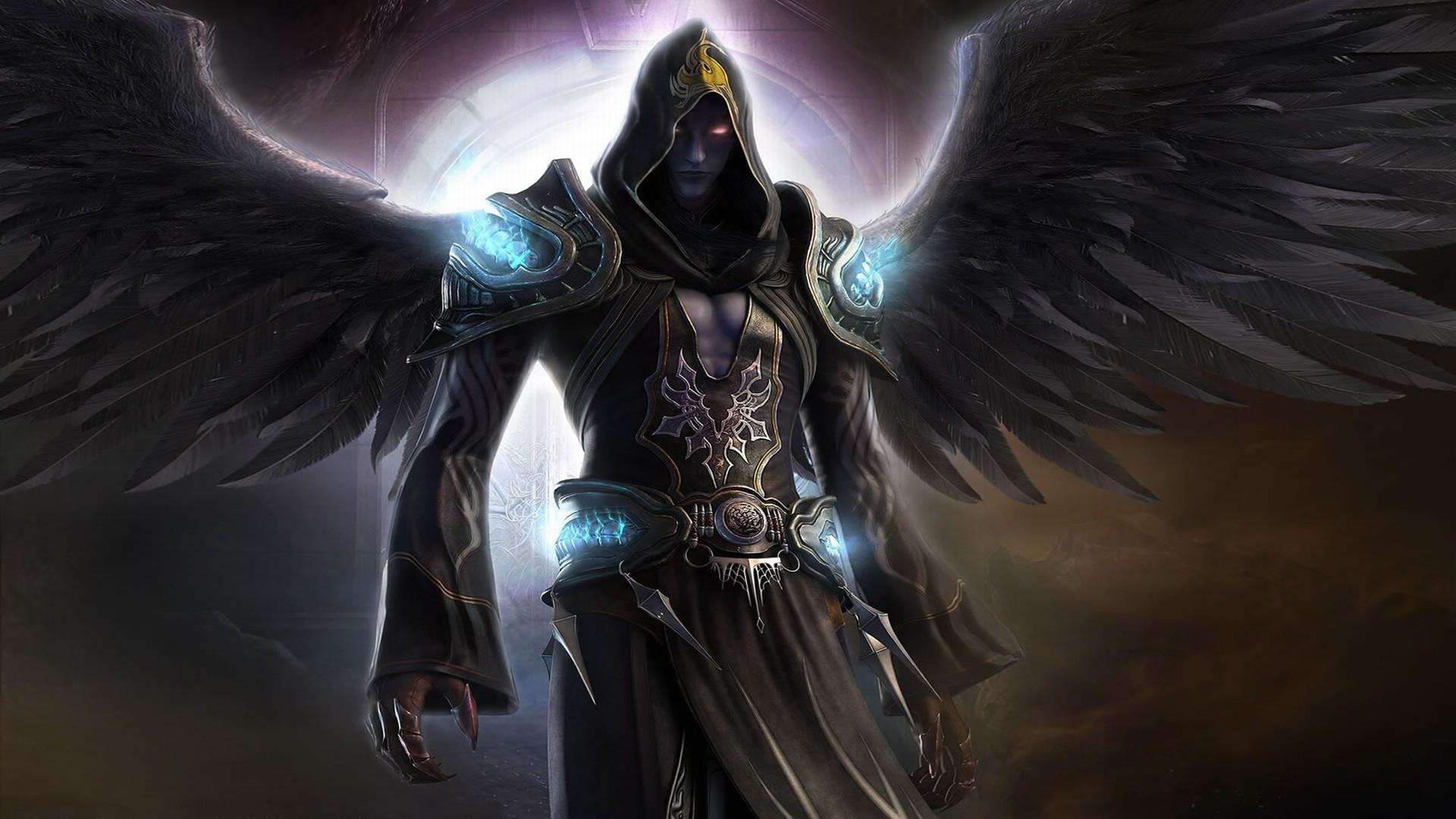 Fantasy – Angel Shadow Fantasy Man Black Dark Wings Wallpaper