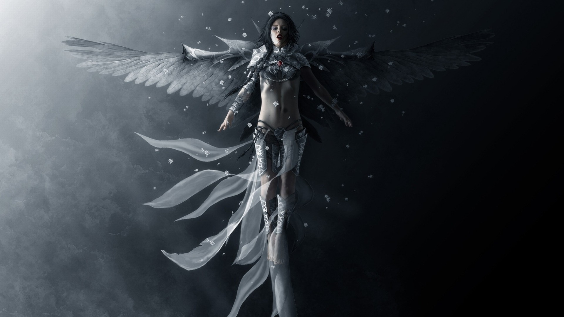 Fantasy – Angel Slave Man Woman Wings Wallpaper