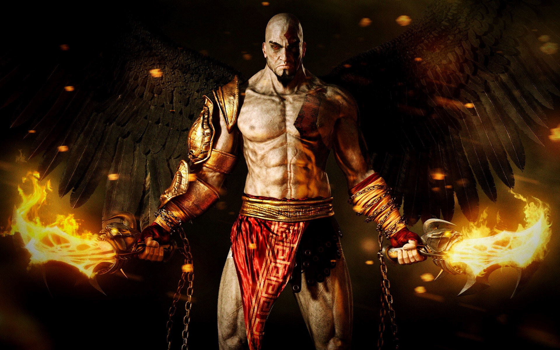 God Of War Kratos With Angel Wings HD Wallpapers in HD