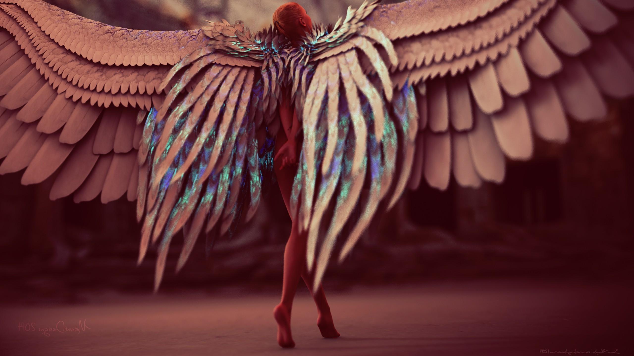 artwork, Angel, Women, Digital Art, Fantasy Art, Wings Wallpapers HD /  Desktop and Mobile Backgrounds