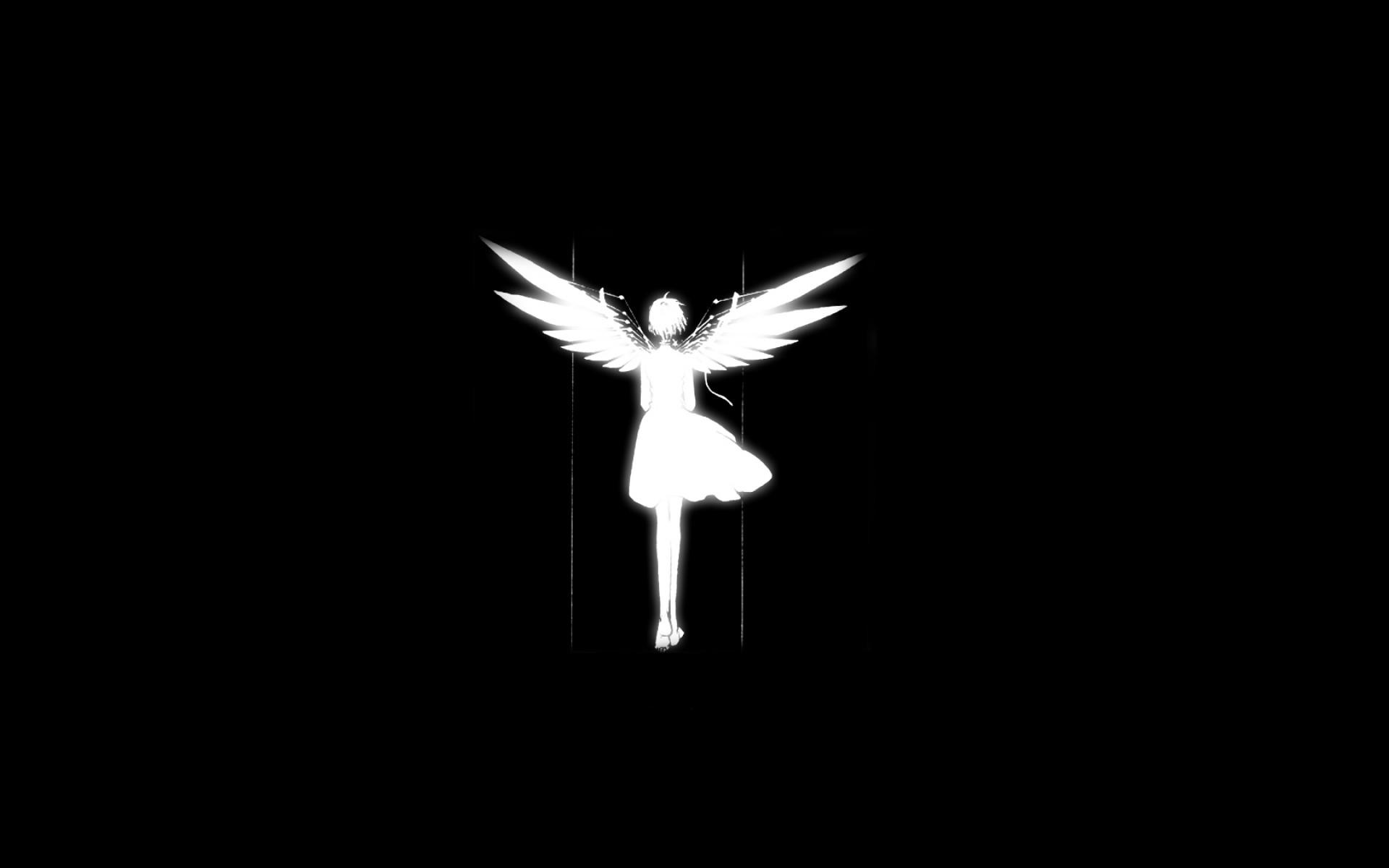 … Silhouette Angel Wings Black Background 1680X1050 Wallpaper  …