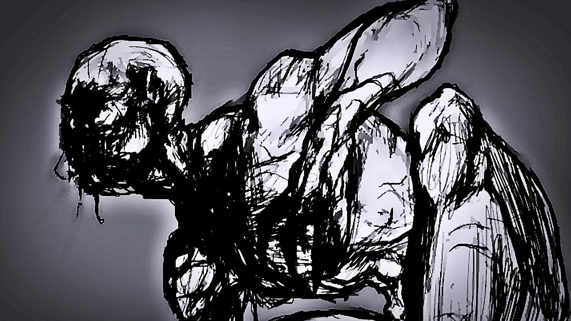 Dark – Creepypasta Anime The Rake Scary Creepy Wallpaper