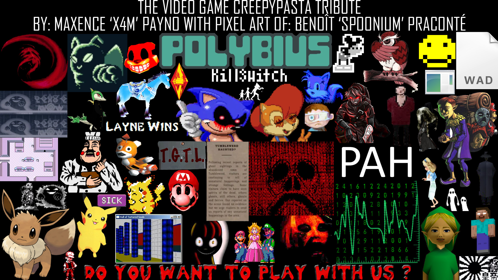 … The Video Game Creepypasta Tribute Wallpaper by X4M12