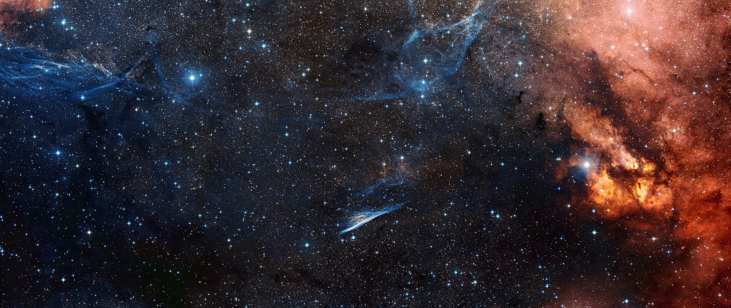 Preview wallpaper space, sky, stars 2560×1080