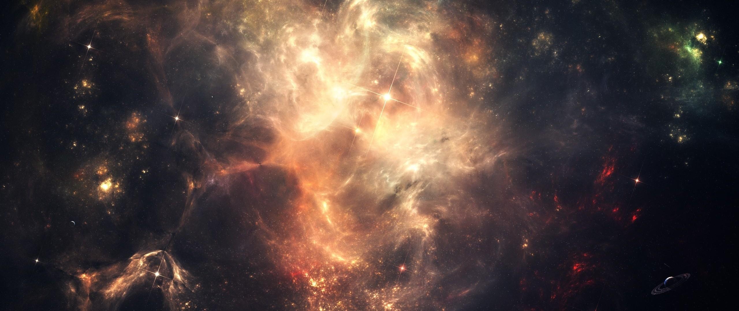 Preview wallpaper space, stars, sky, dark 2560×1080