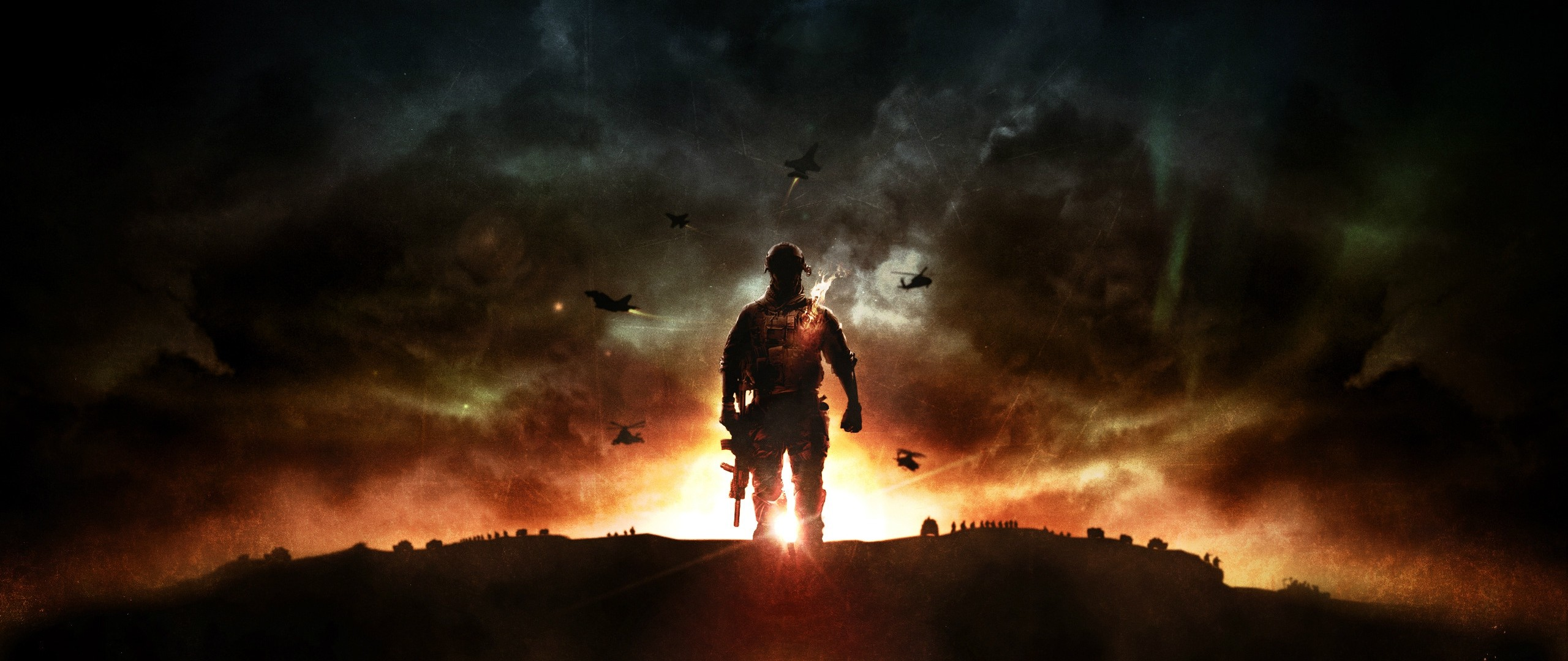 Preview wallpaper battlefield 4, game, explosion, ea digital illusions ce  2560×1080