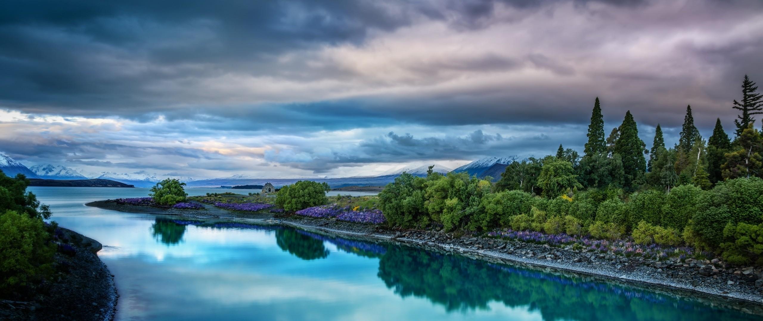 Wallpaper sky, nature, river, landscape