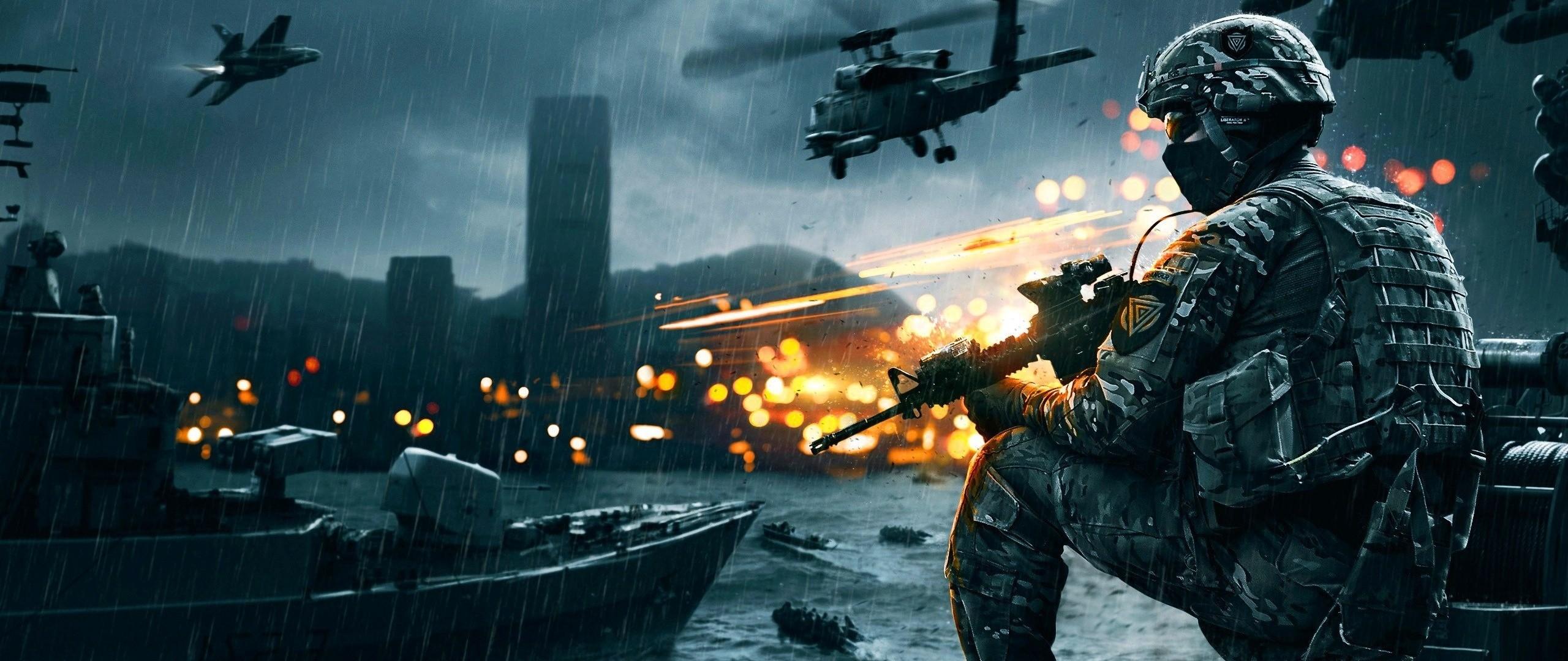 Preview wallpaper battlefield 4, game, ea digital illusions ce 2560×1080
