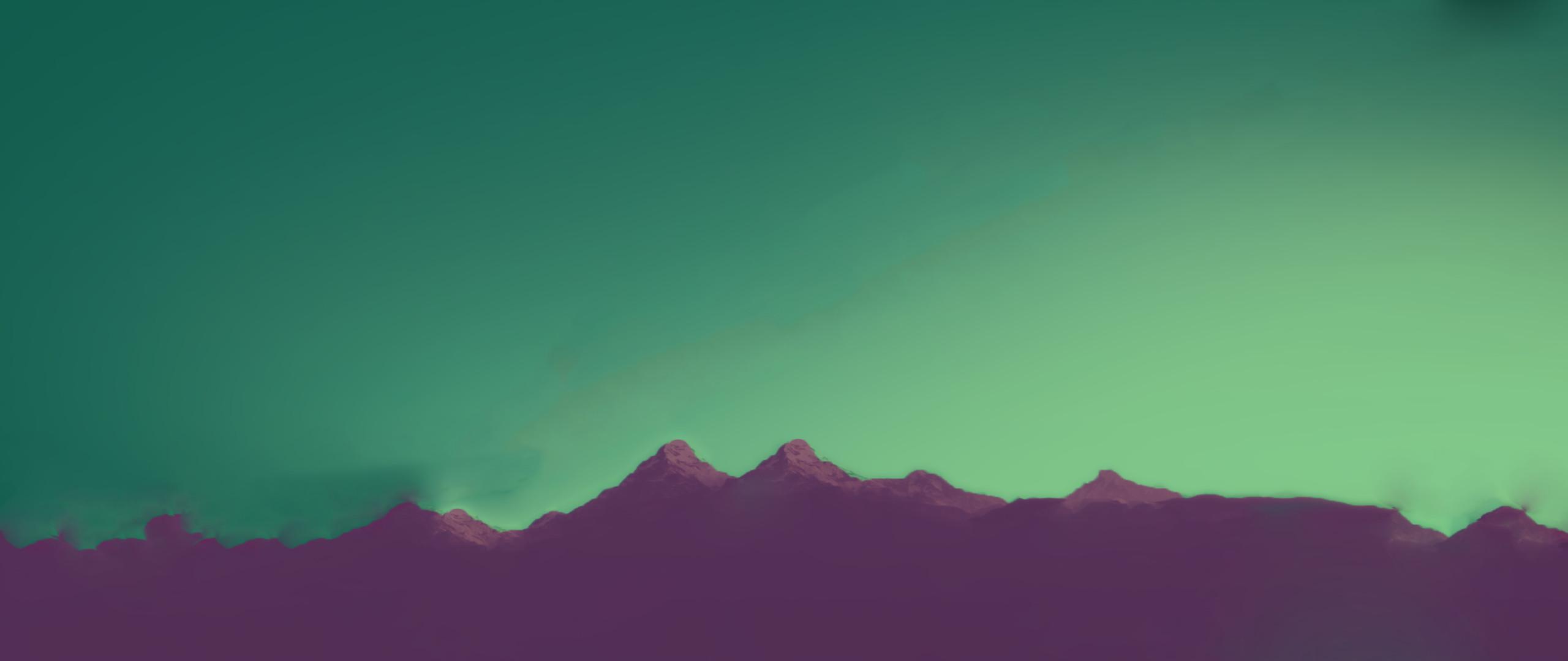 Earth – Mountain Cyan Pink Wallpaper