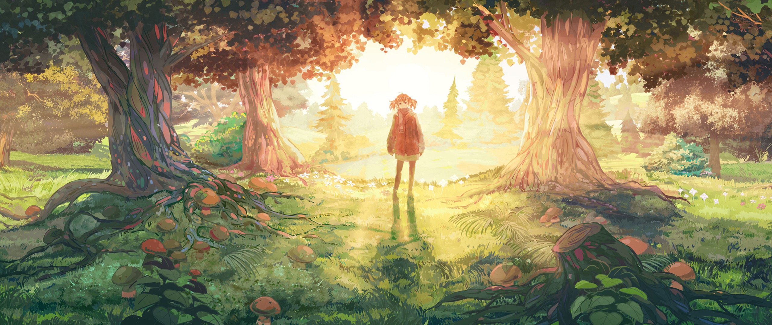 Anime Girl Dual Screen wallpaper