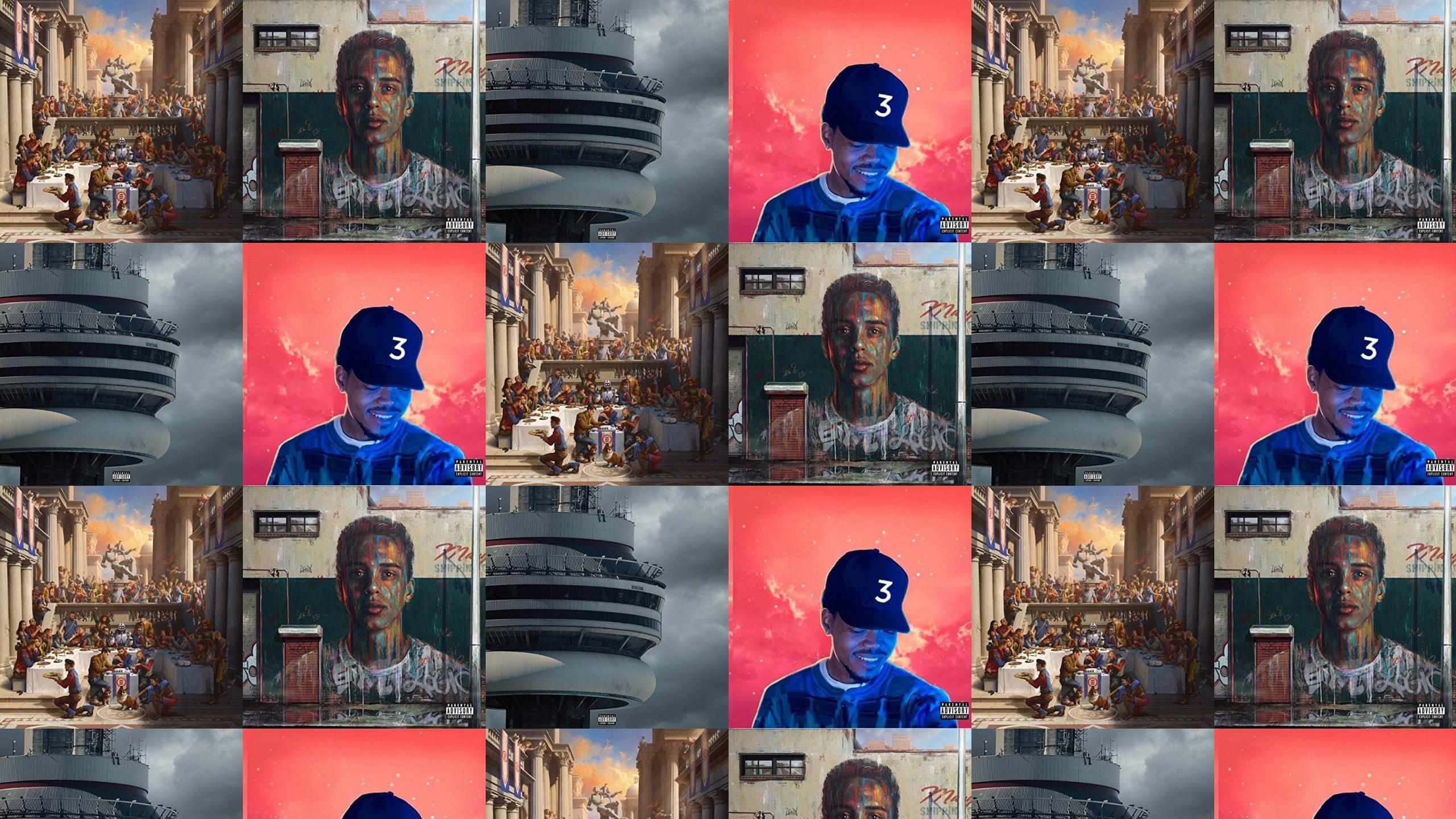 Logic Under Pressure Drake Views Chance Rapper Wallpaper Â« Tiled Desktop  Wallpaper