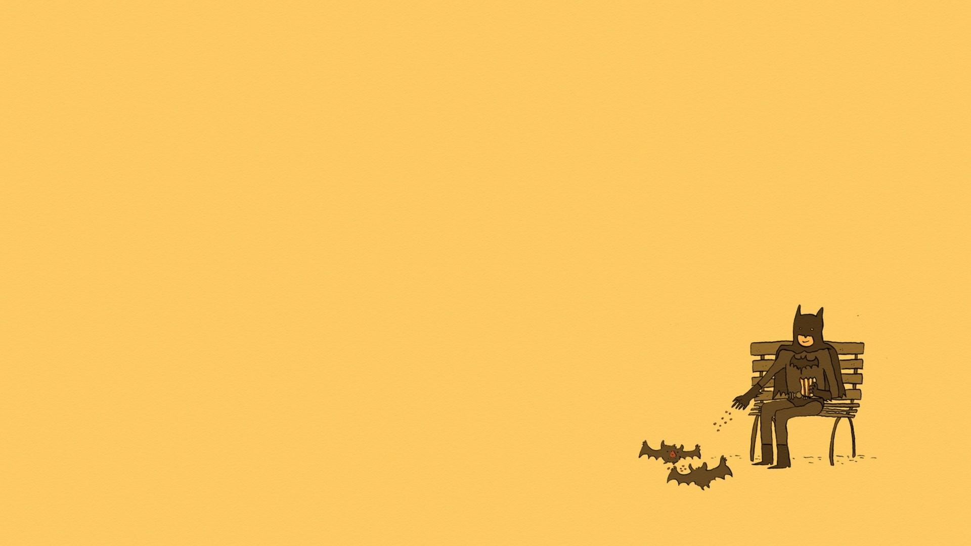 Preview wallpaper batman, minimalism, comics 1920×1080