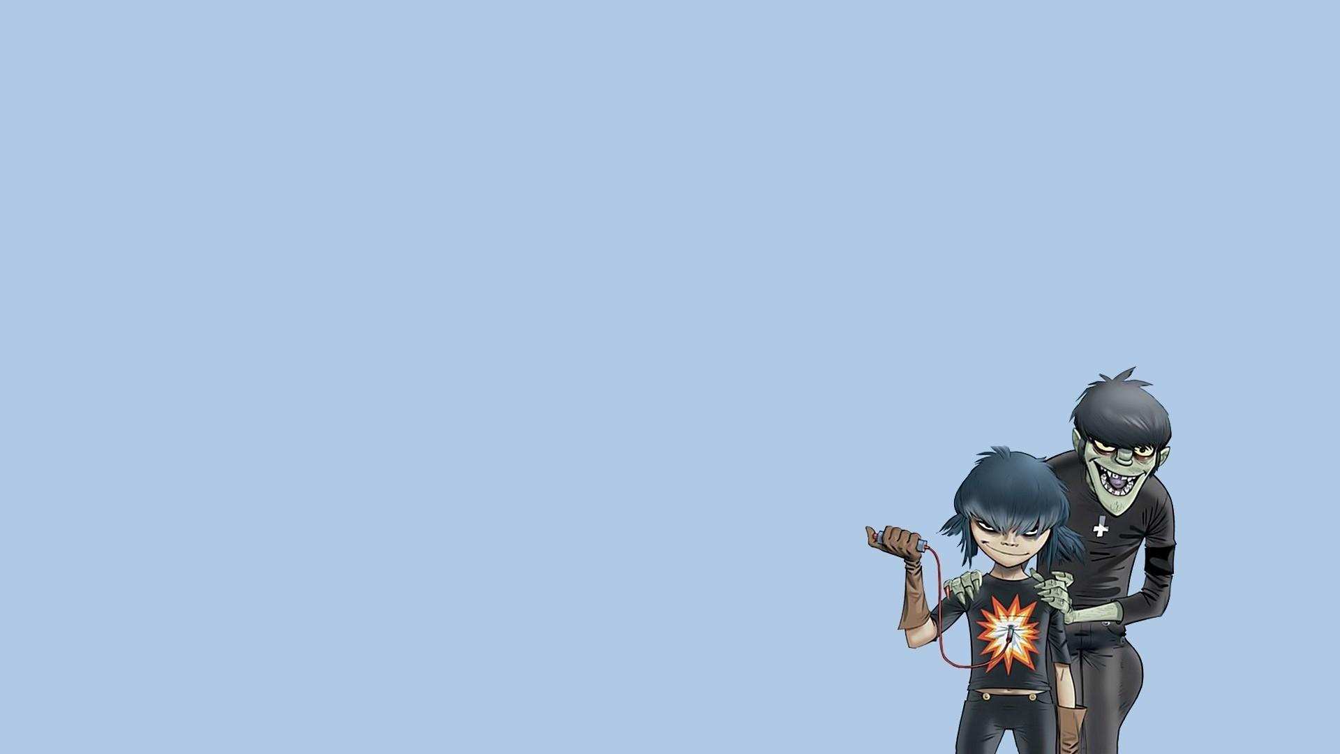 Minimalistic Gorillaz Noodles 2D : Desktop and mobile wallpaper .