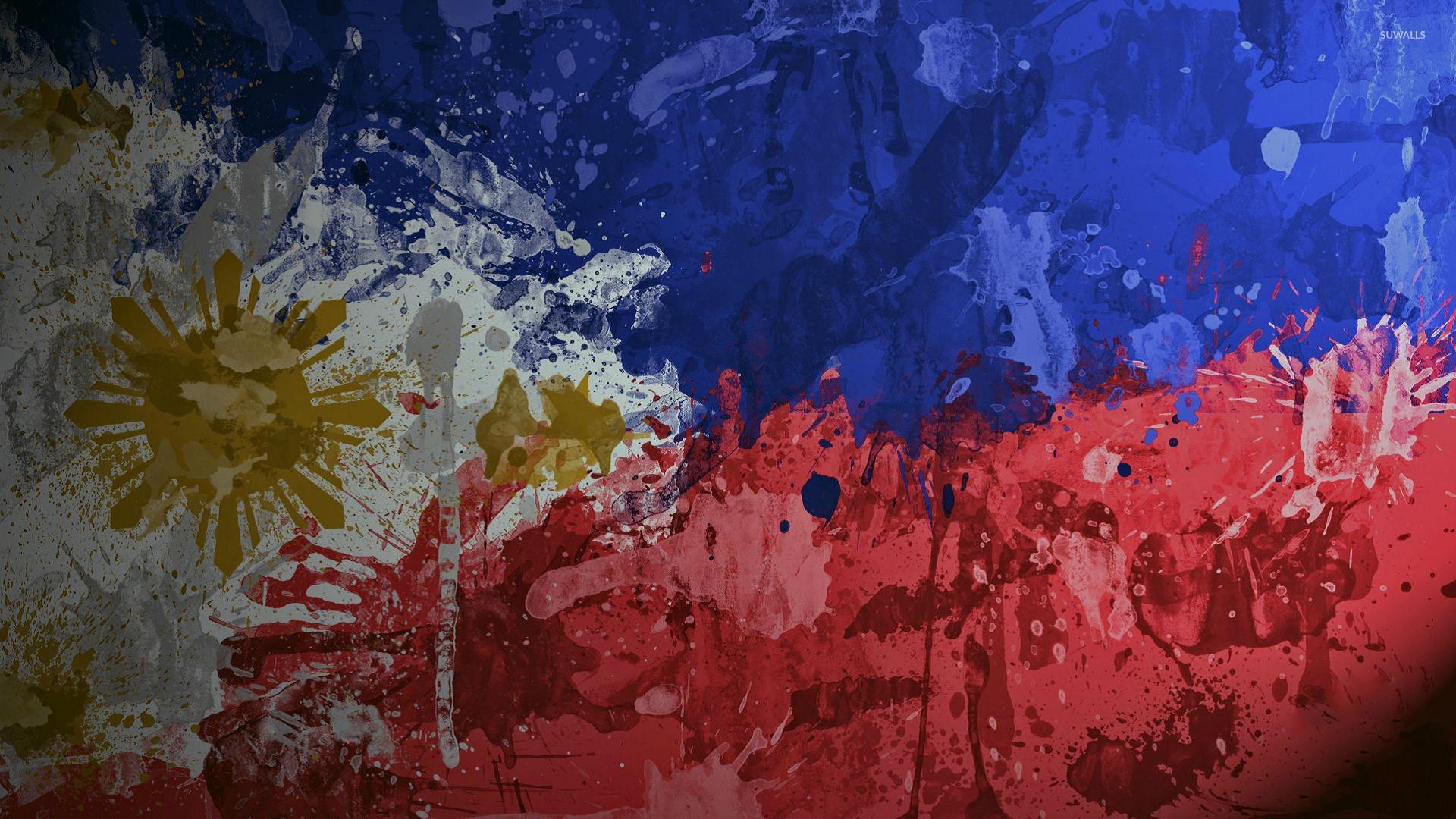 Paint splash on the flag of Philippines wallpaper – Digital Art ..