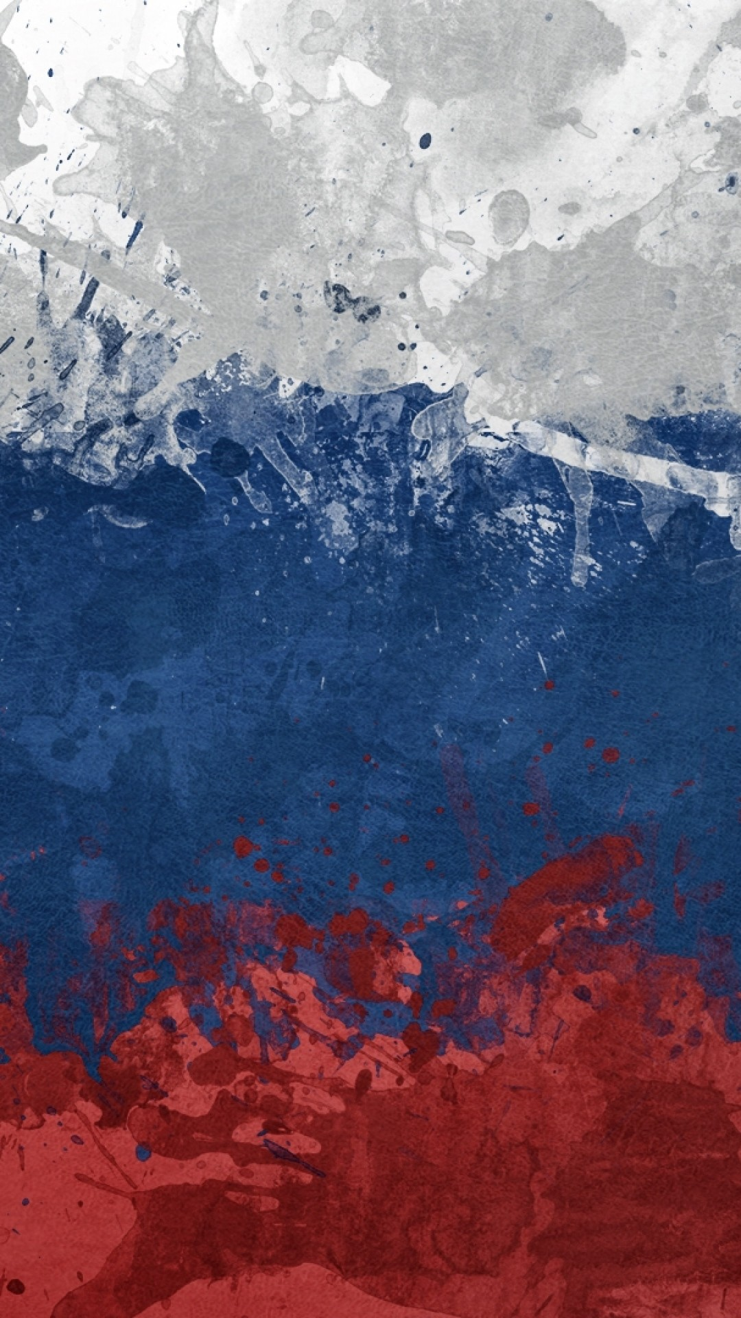 Preview wallpaper flag, russia, spots, paint, symbol, texture 1080×1920
