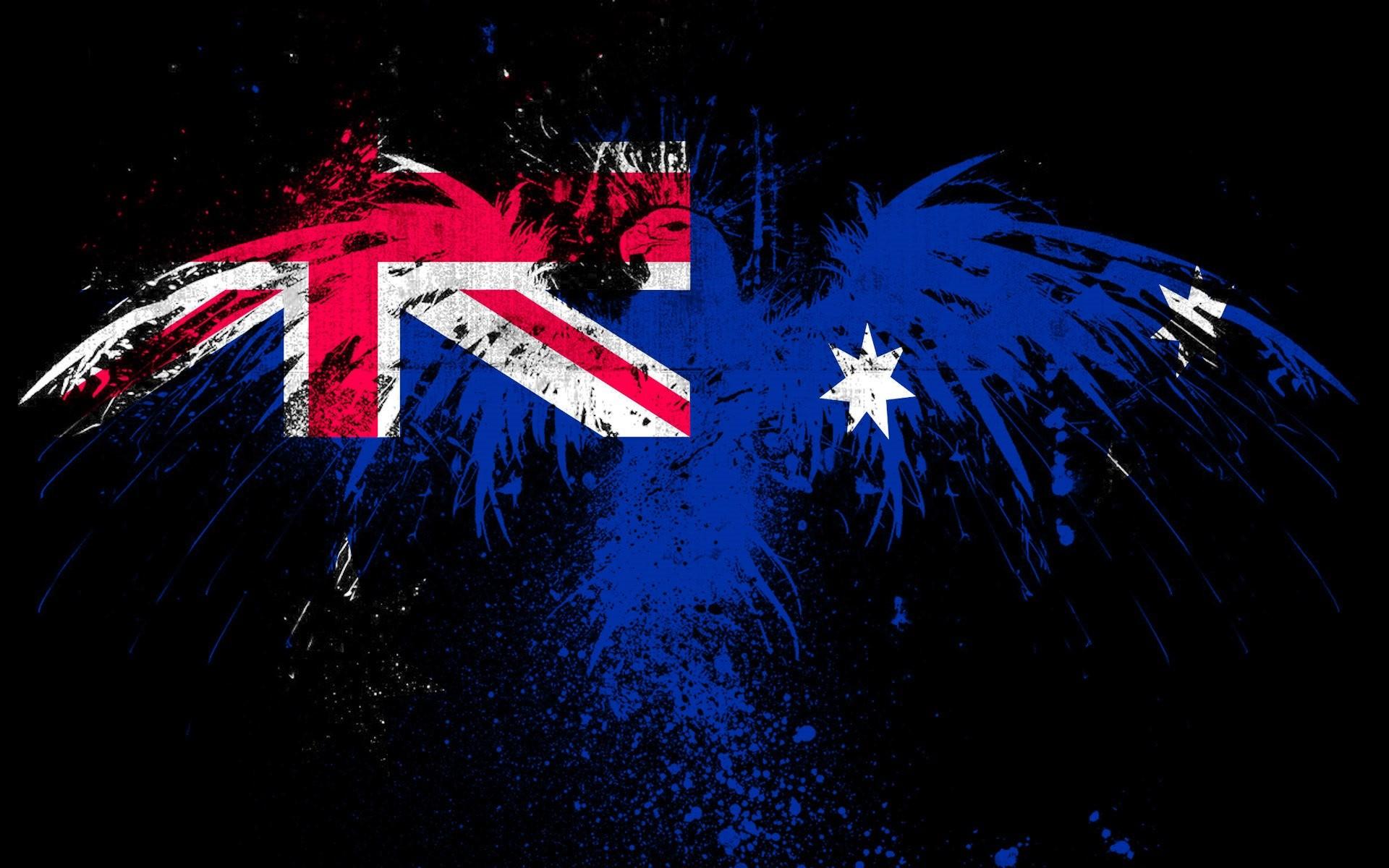 Australian Flag on eagle paint HD wallpaper