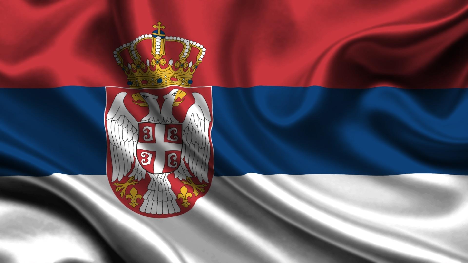Flag of Serbia wallpaper