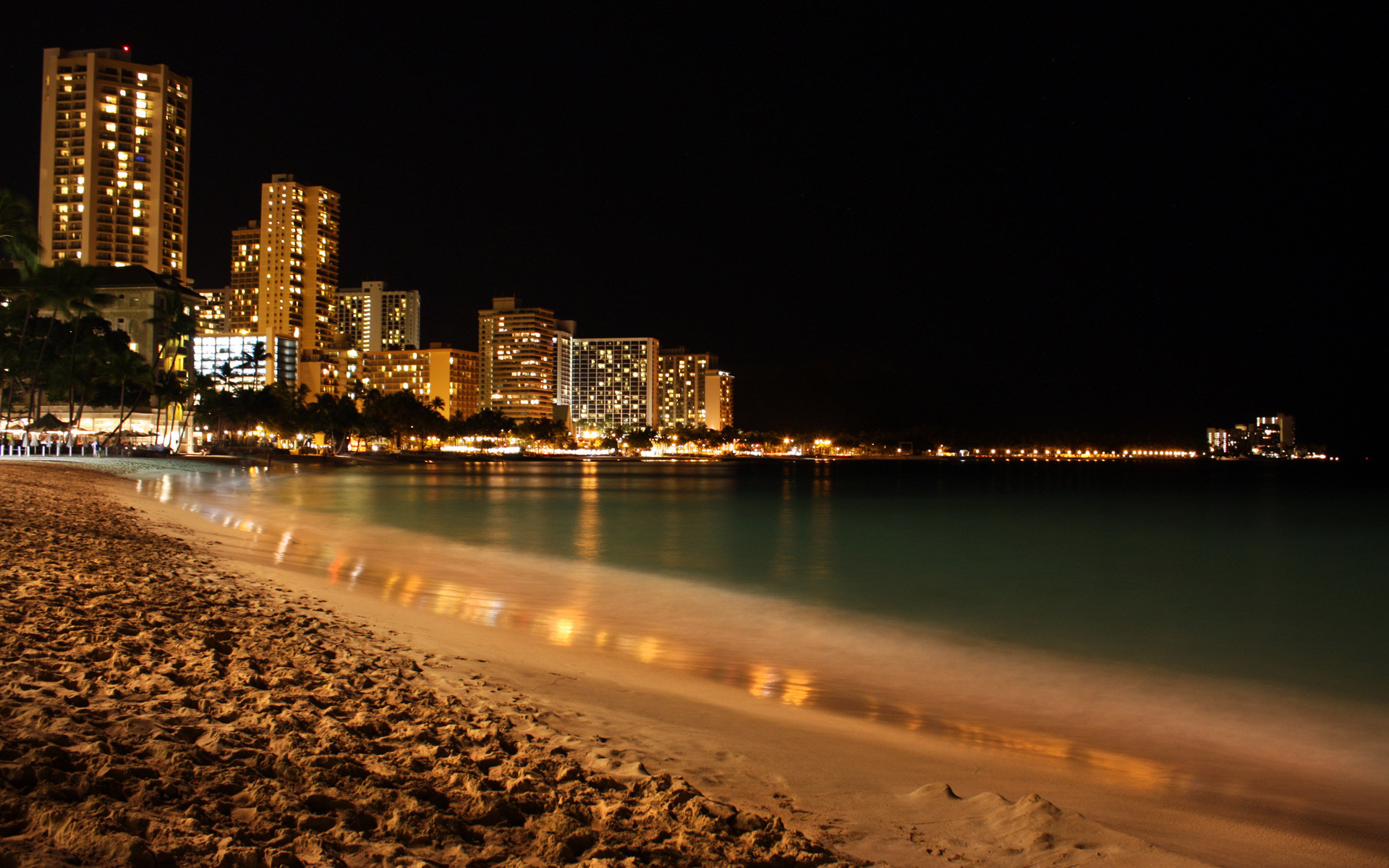 Night Beach Wallpaper Full HD With Wallpapers Wide Resolution px  672.12 KB