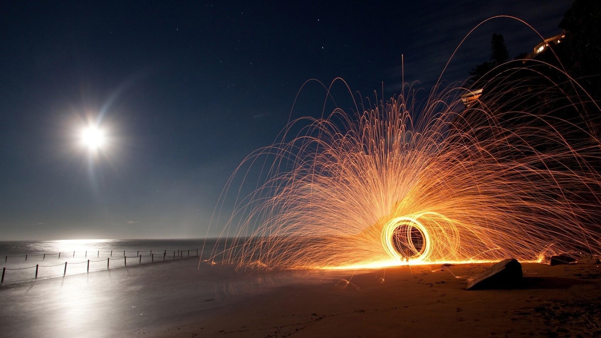 Beach At Night Desktop Images.