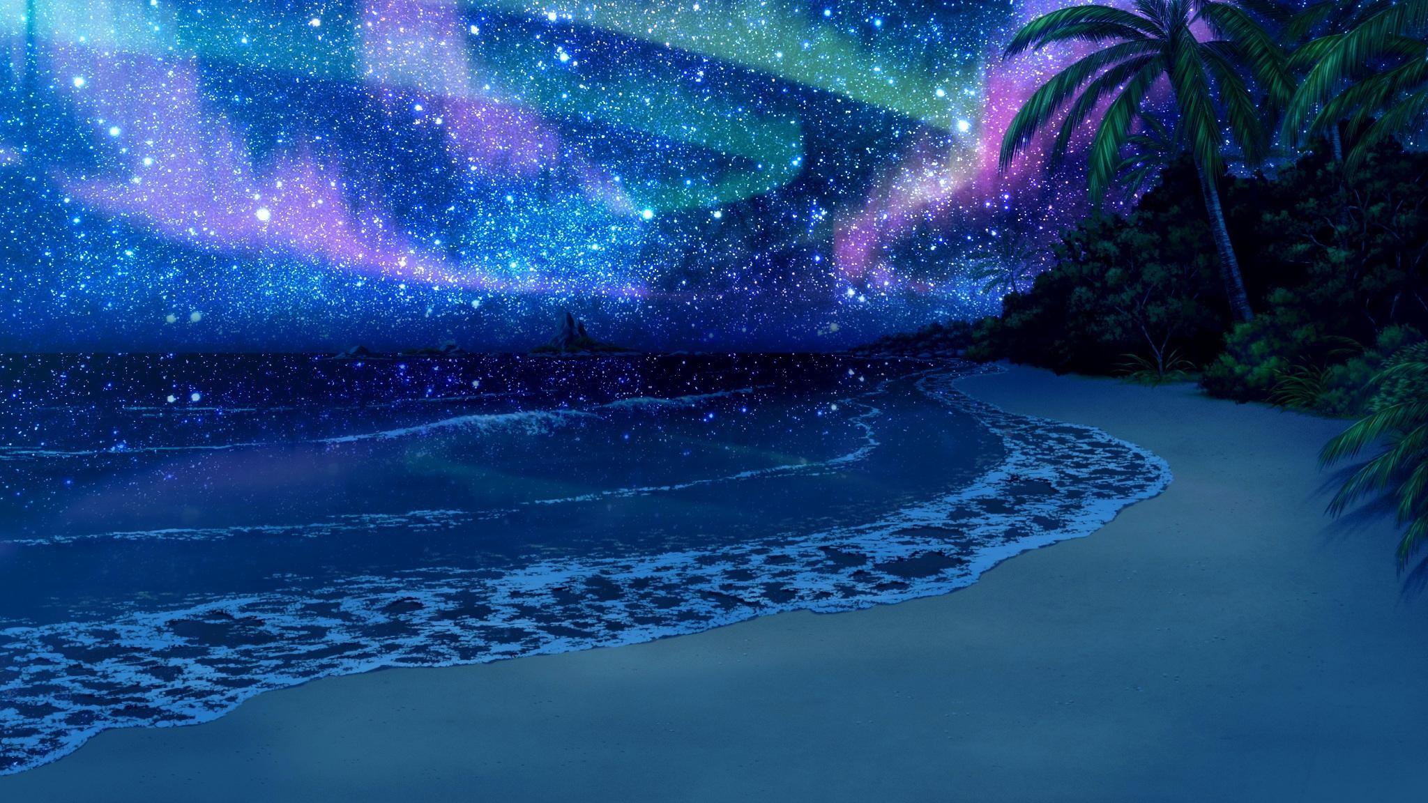wallpaper.wiki-Beach-At-Night-Background-Download-Free-