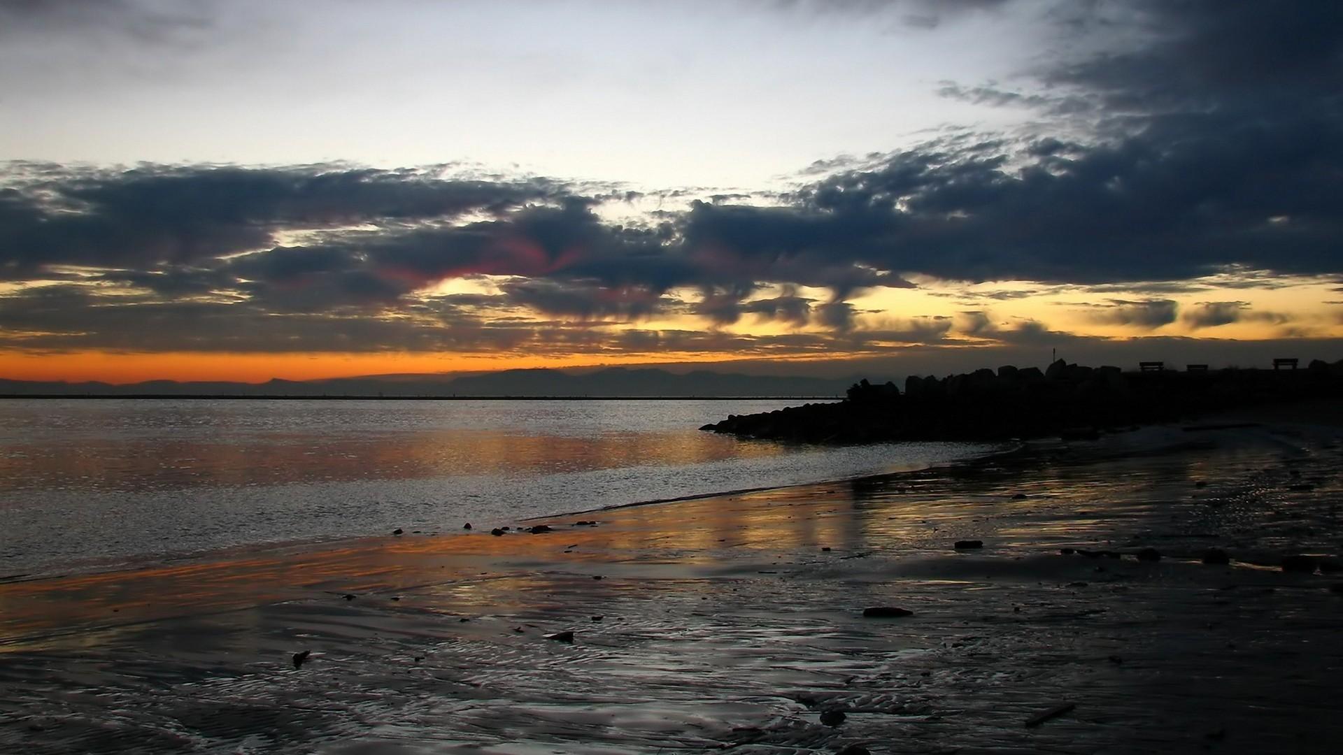 Beach At Night HD Backgrounds | PixelsTalk.Net
