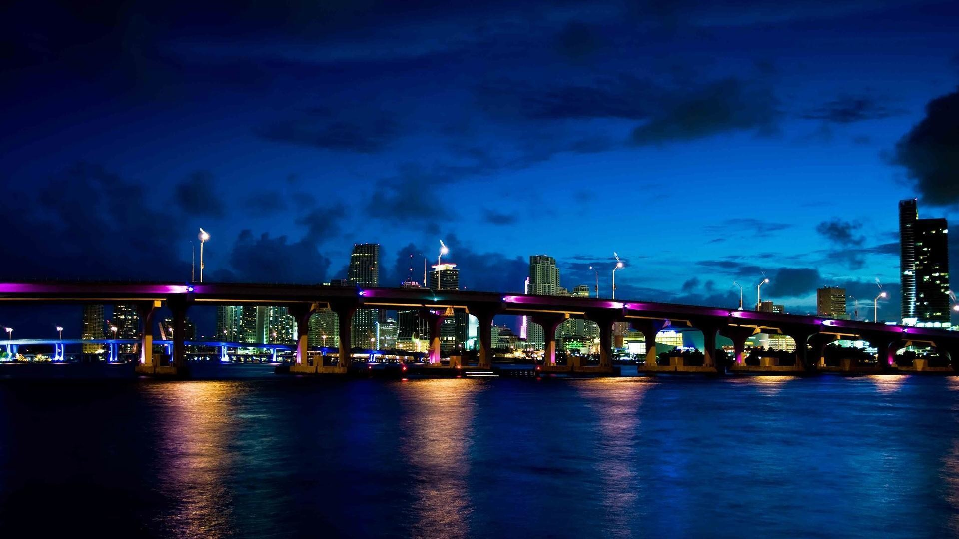 Miami <b>beach night florida wallpaper</b>   1920×1200   #
