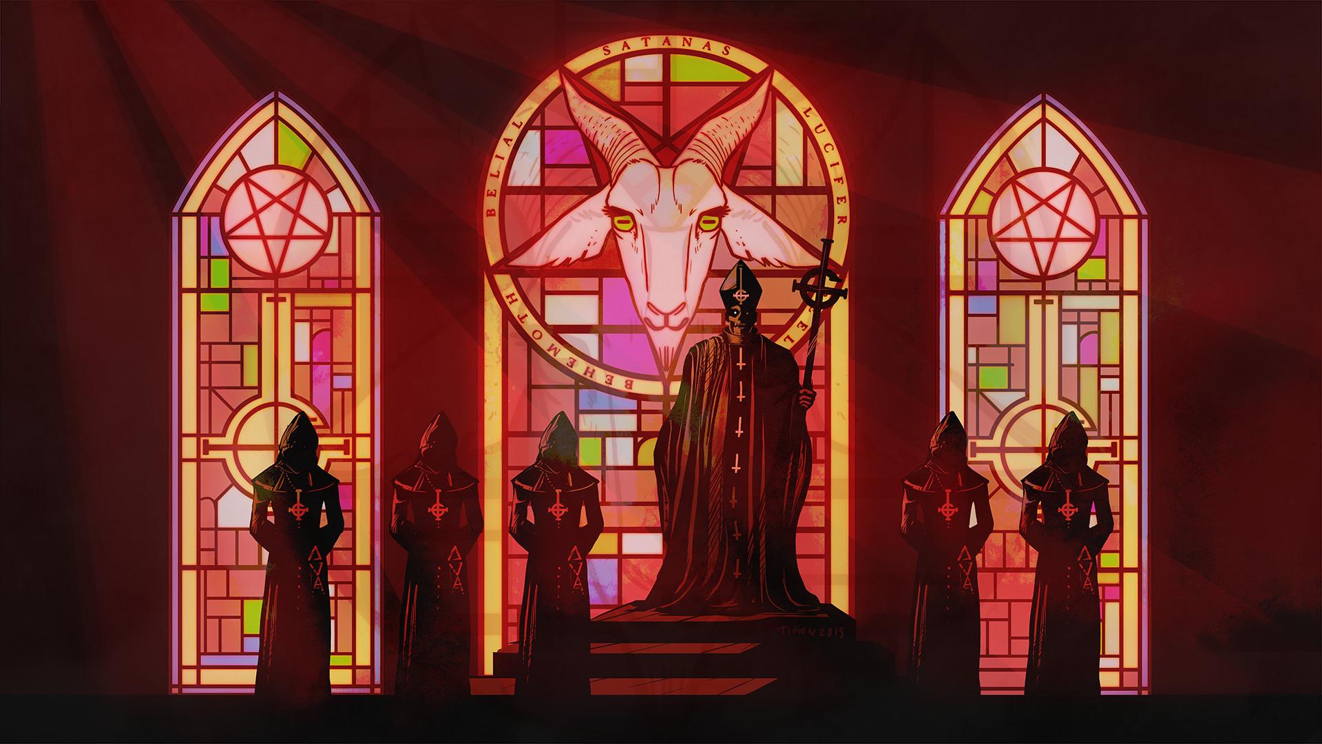 Music – Ghost B.C. Pentagram Dark Hard Rock Heavy Metal Occult Wallpaper