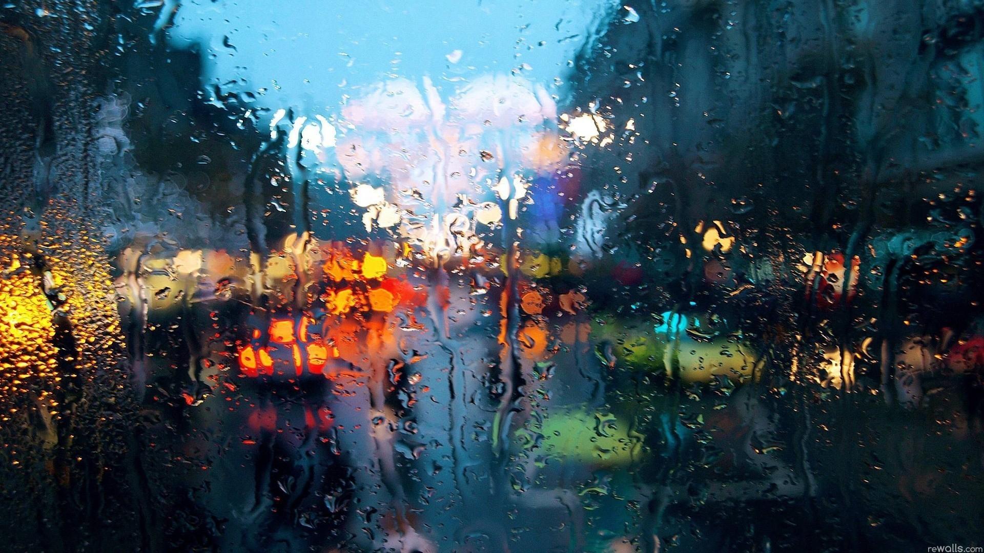 General rain city glass water drops window bokeh water on glass FaZe  Rain lights