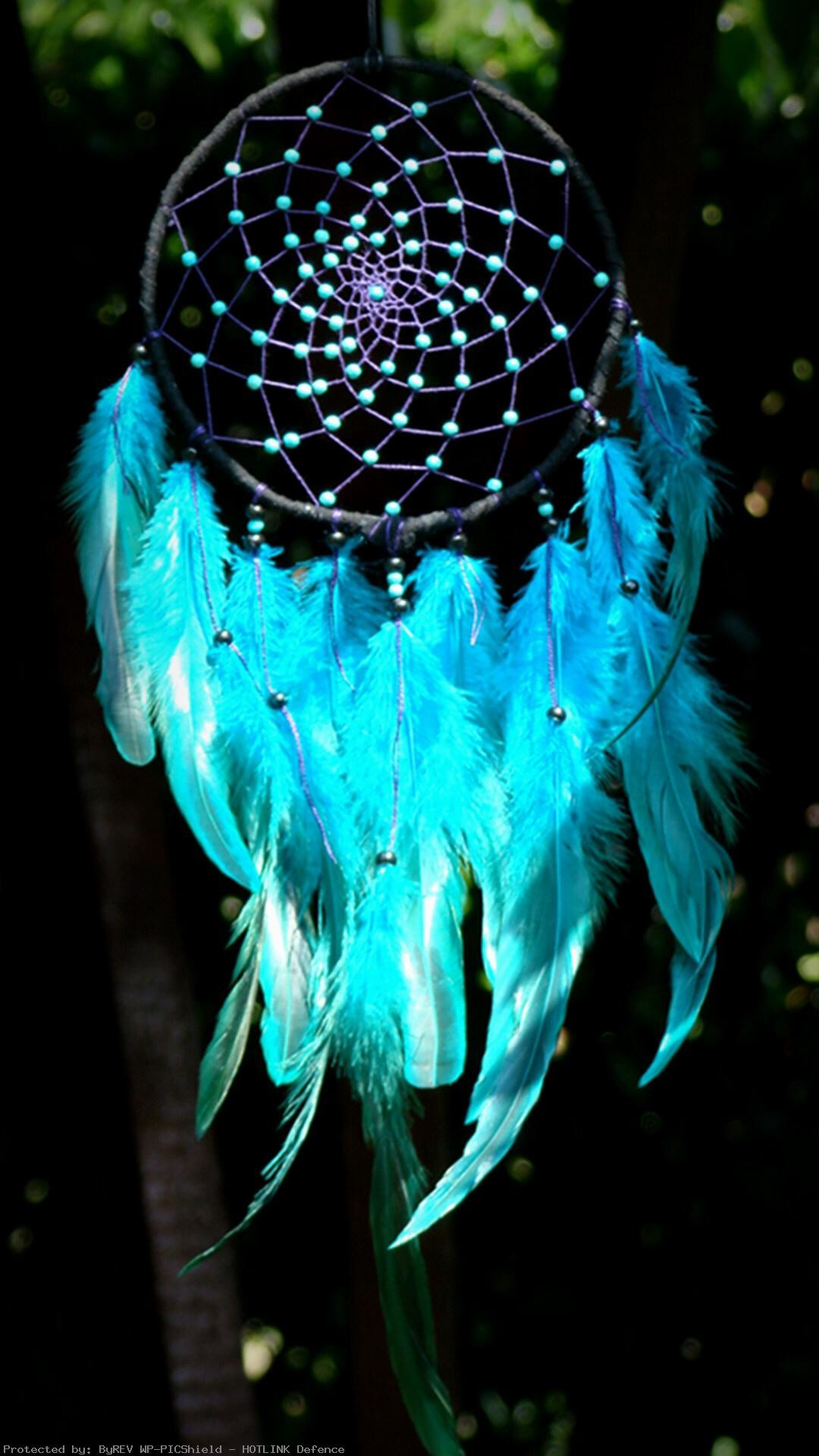 The-light-and-dark-blue-of-the-dreamcatcher-