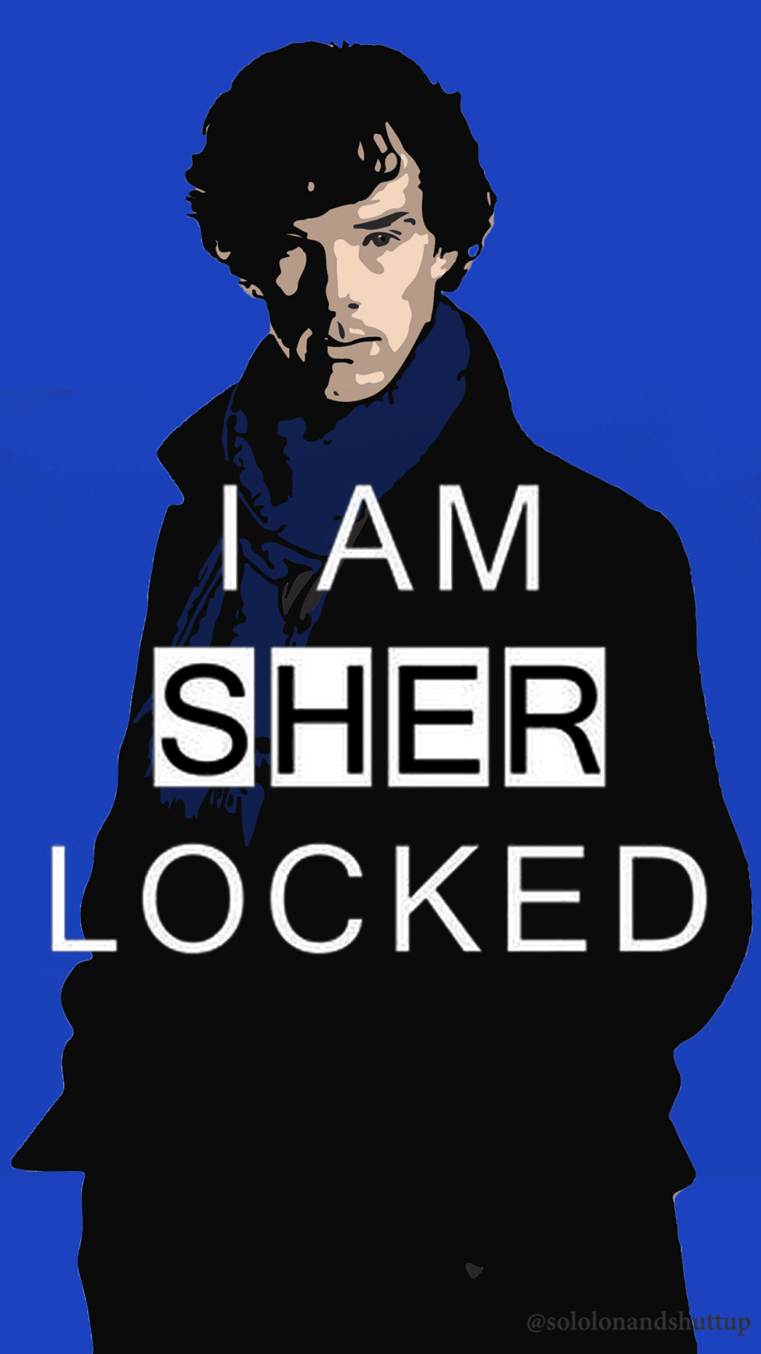 The art of fangirling — Made some more Sherlock mobile wallpapers ;).