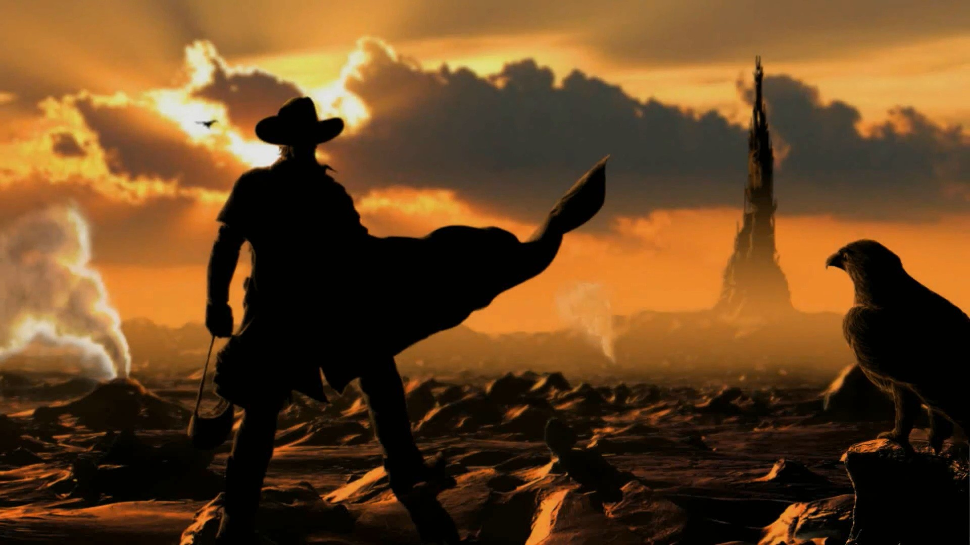 Western cowboy art wallpaper.