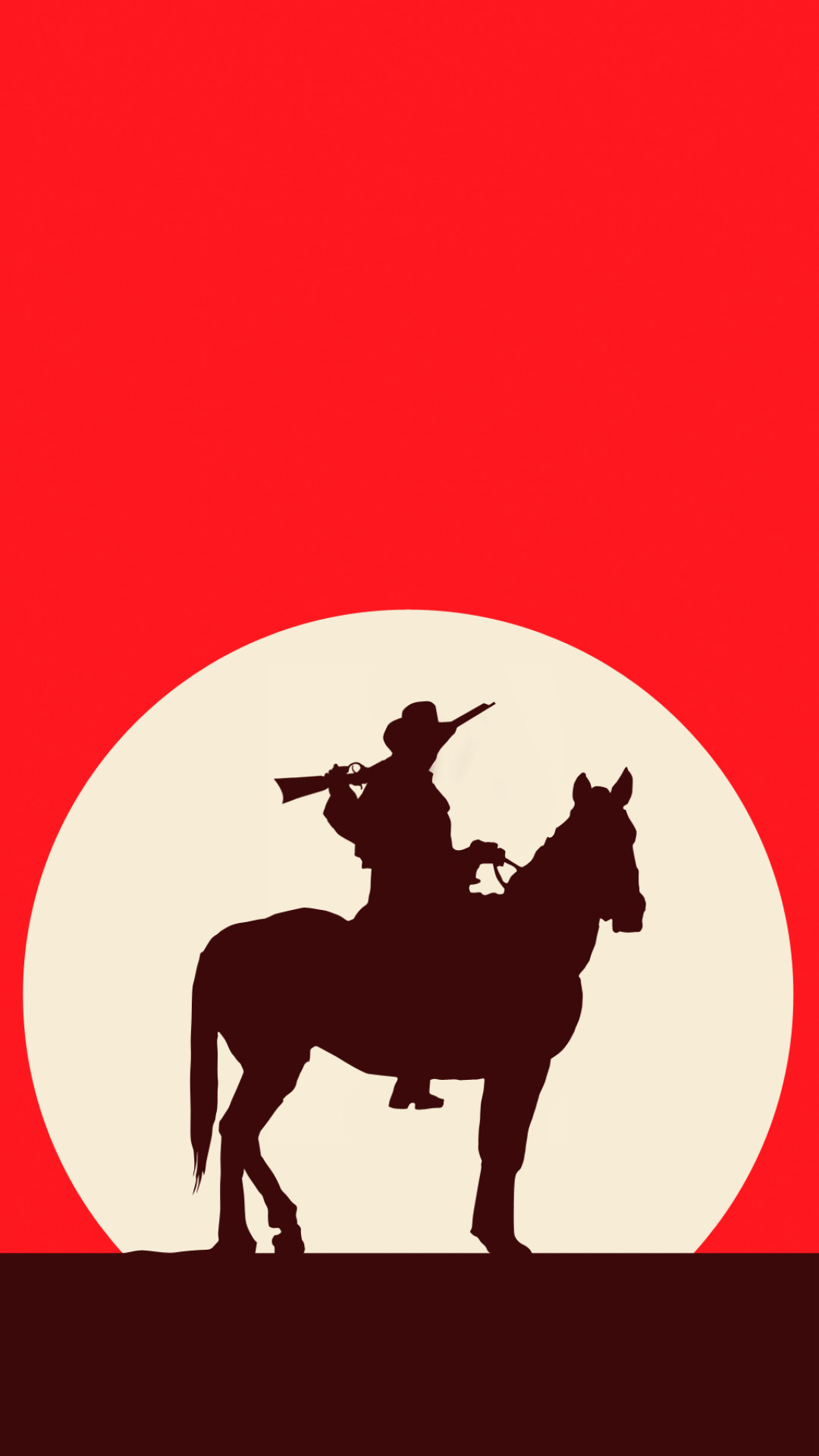Artistic cowboy Horse Red Western Red Dead Redemption.