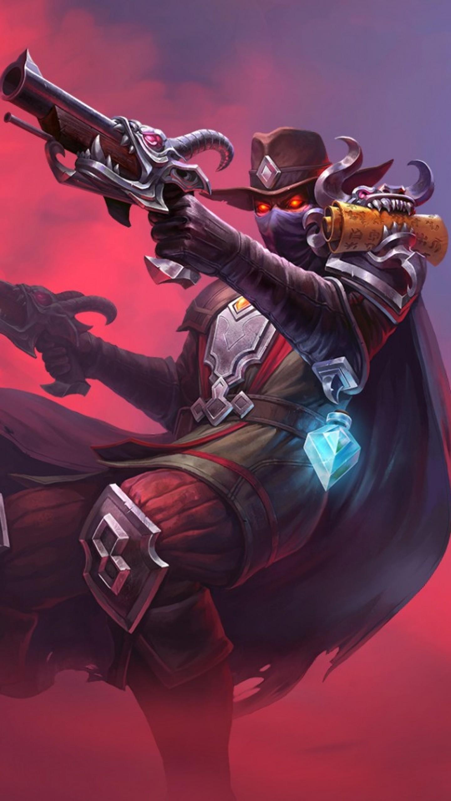 Preview wallpaper juggernaut wars, weapons, art, cowboy 1440×2560