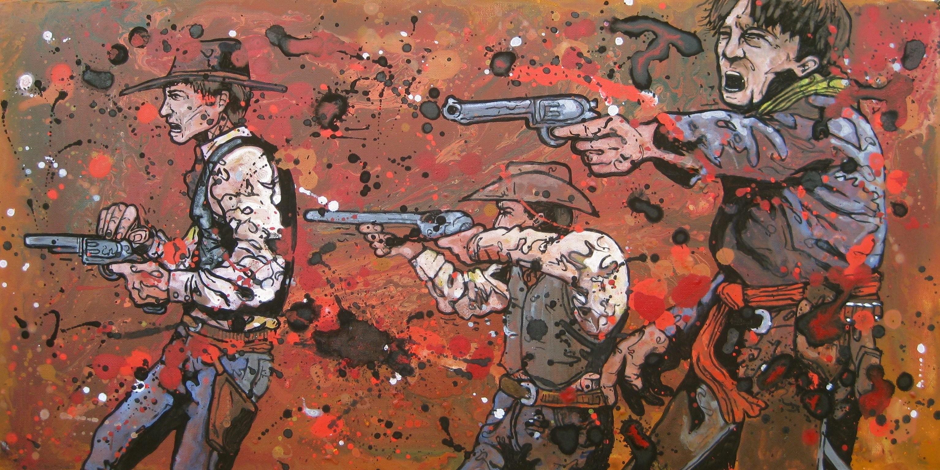 Western Battle Weapon Gun Artwork Cowboy Wallpaper At Dark Wallpapers