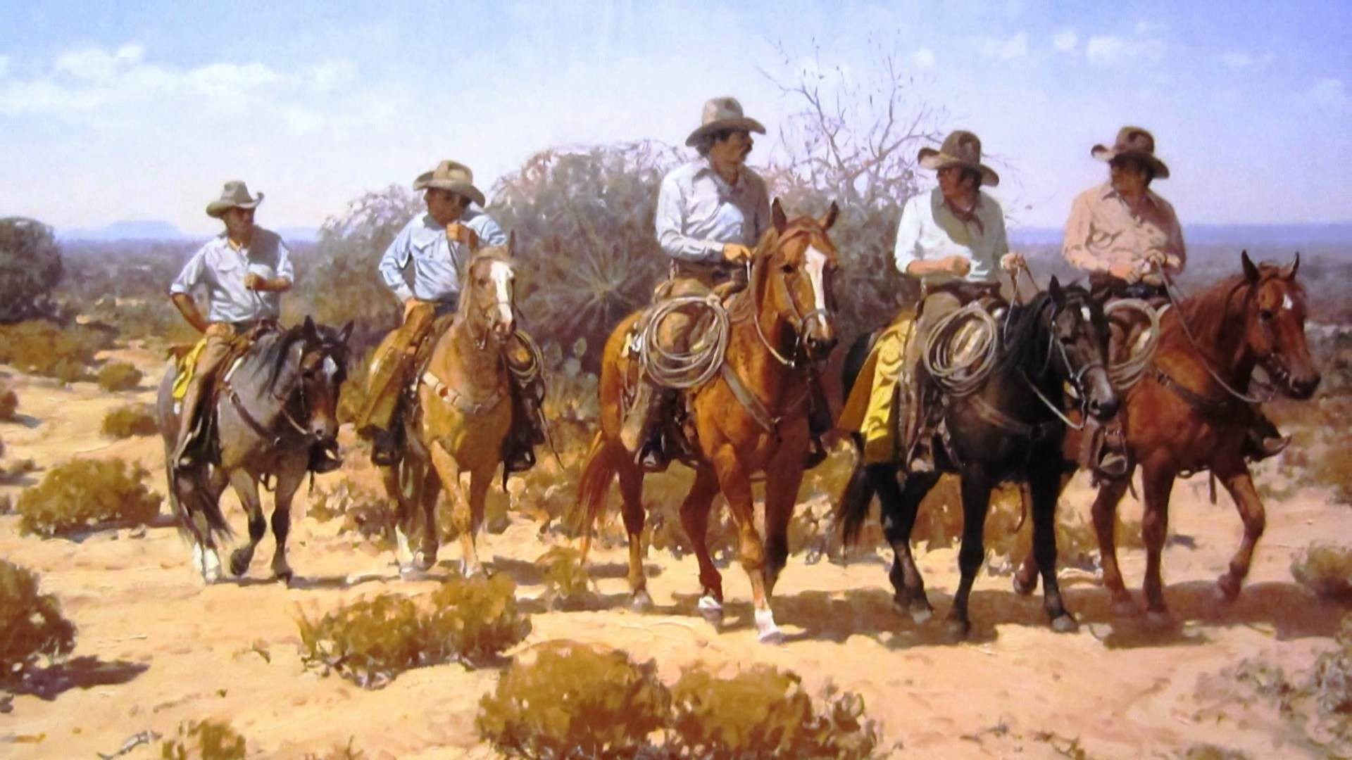 Old West Cowboys   … , cowboys, fantasy, horses, lady,