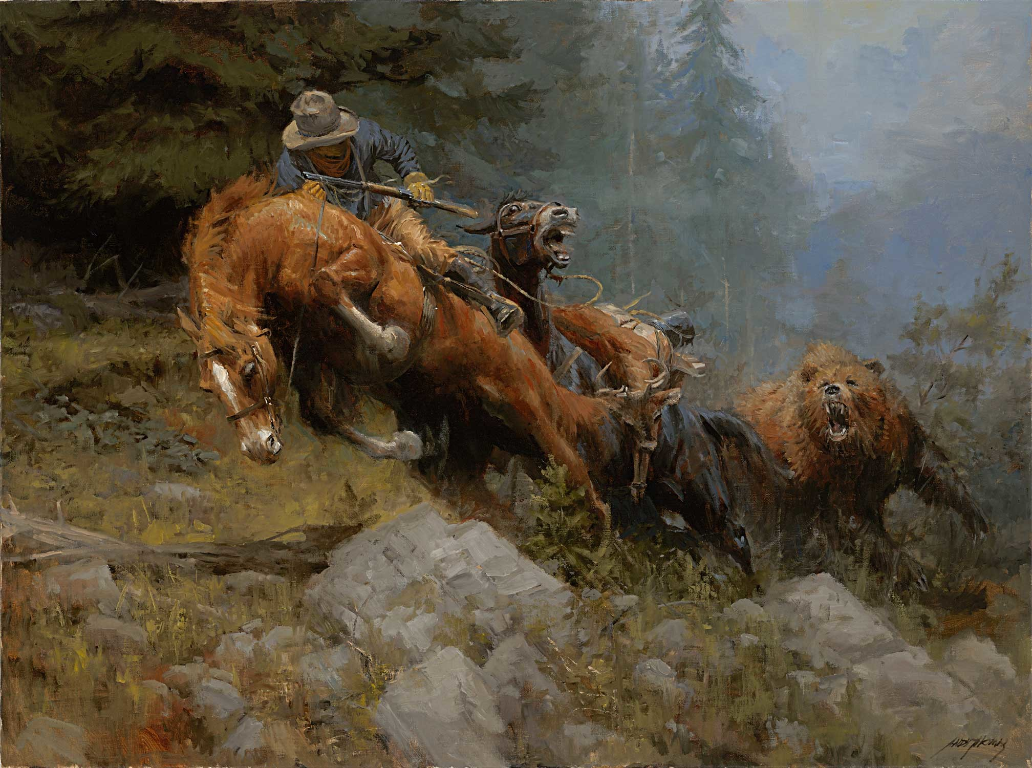 For anyone who played Red Dead Redemption this painting/wallpaper reminds  me of the northern
