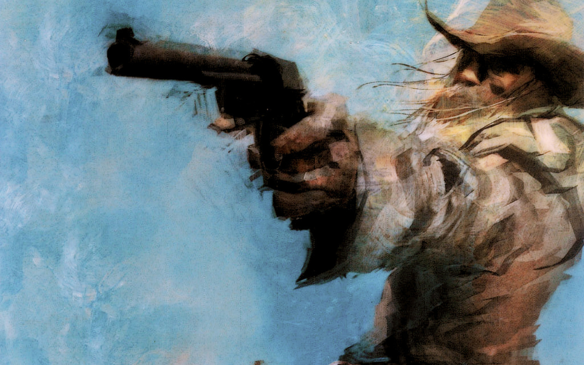 Cowboy revolver art #6928837