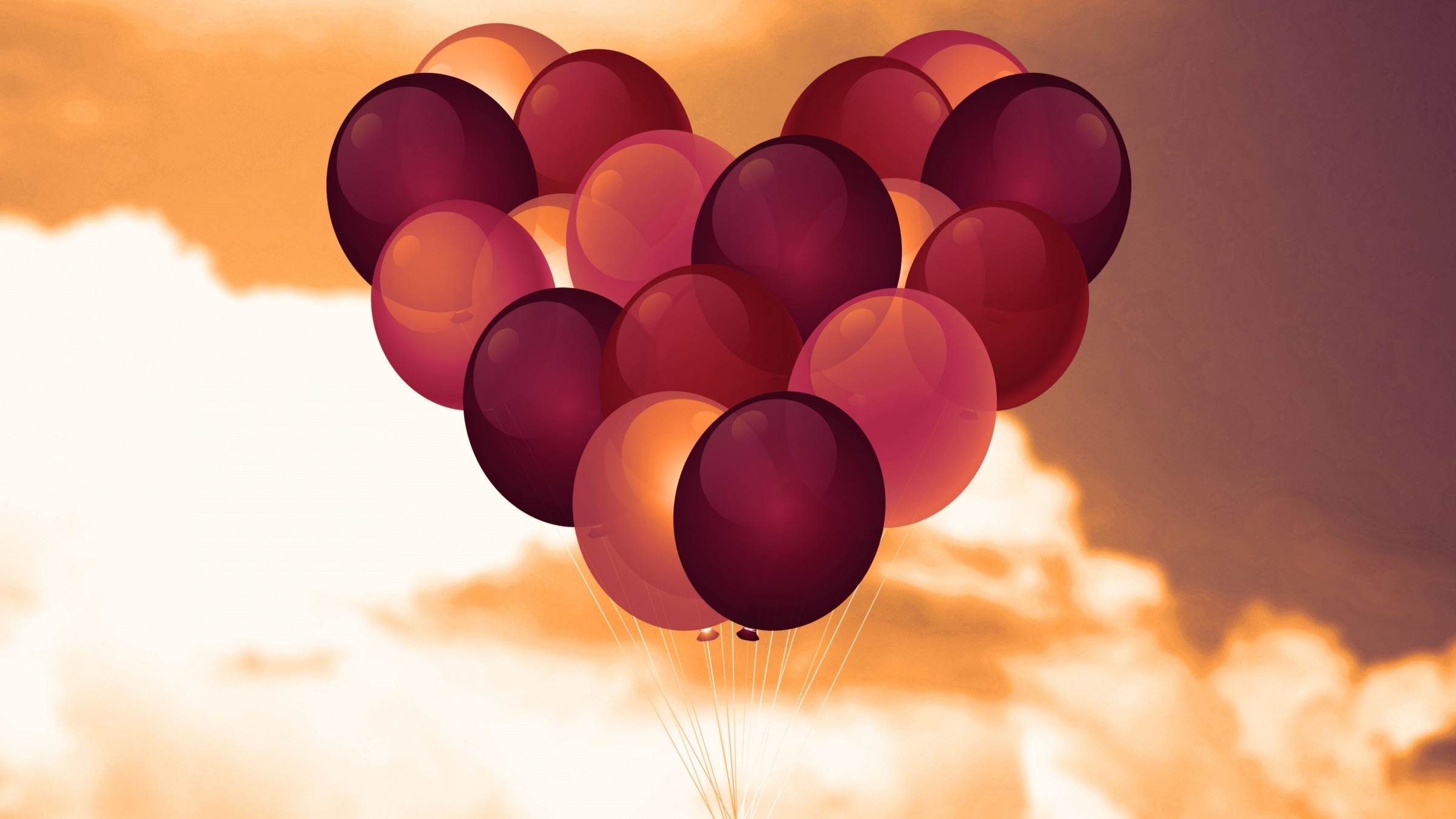 Balloon Heart Valentine 4K Wallpaper
